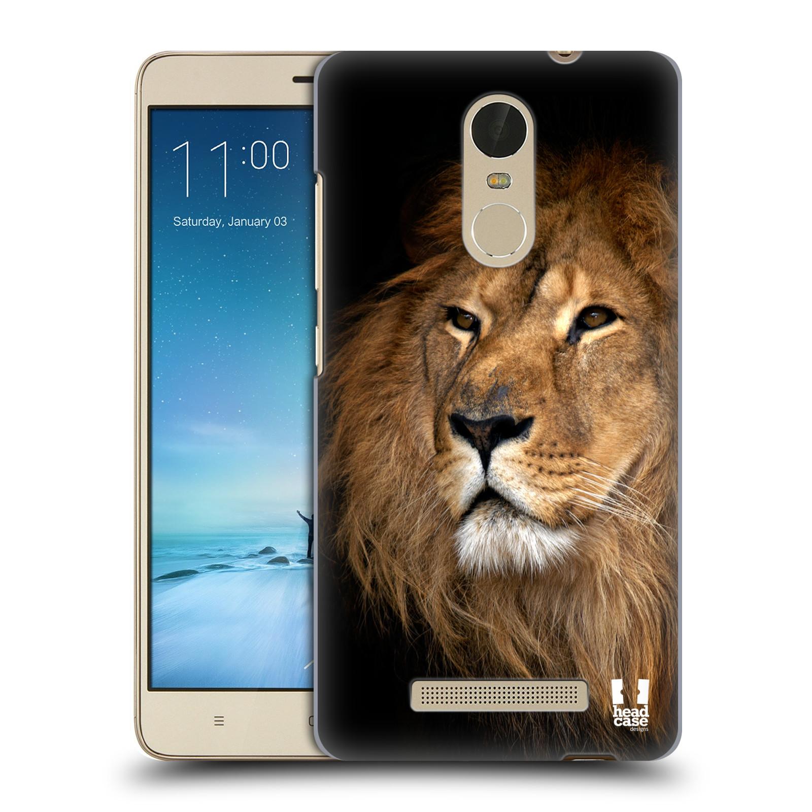 "Plastové pouzdro na mobil Xiaomi Redmi Note 3 HEAD CASE DIVOČINA – LEV (Kryt či obal na mobilní telefon Xiaomi Redmi Note 3 s 5,5"" displejem)"