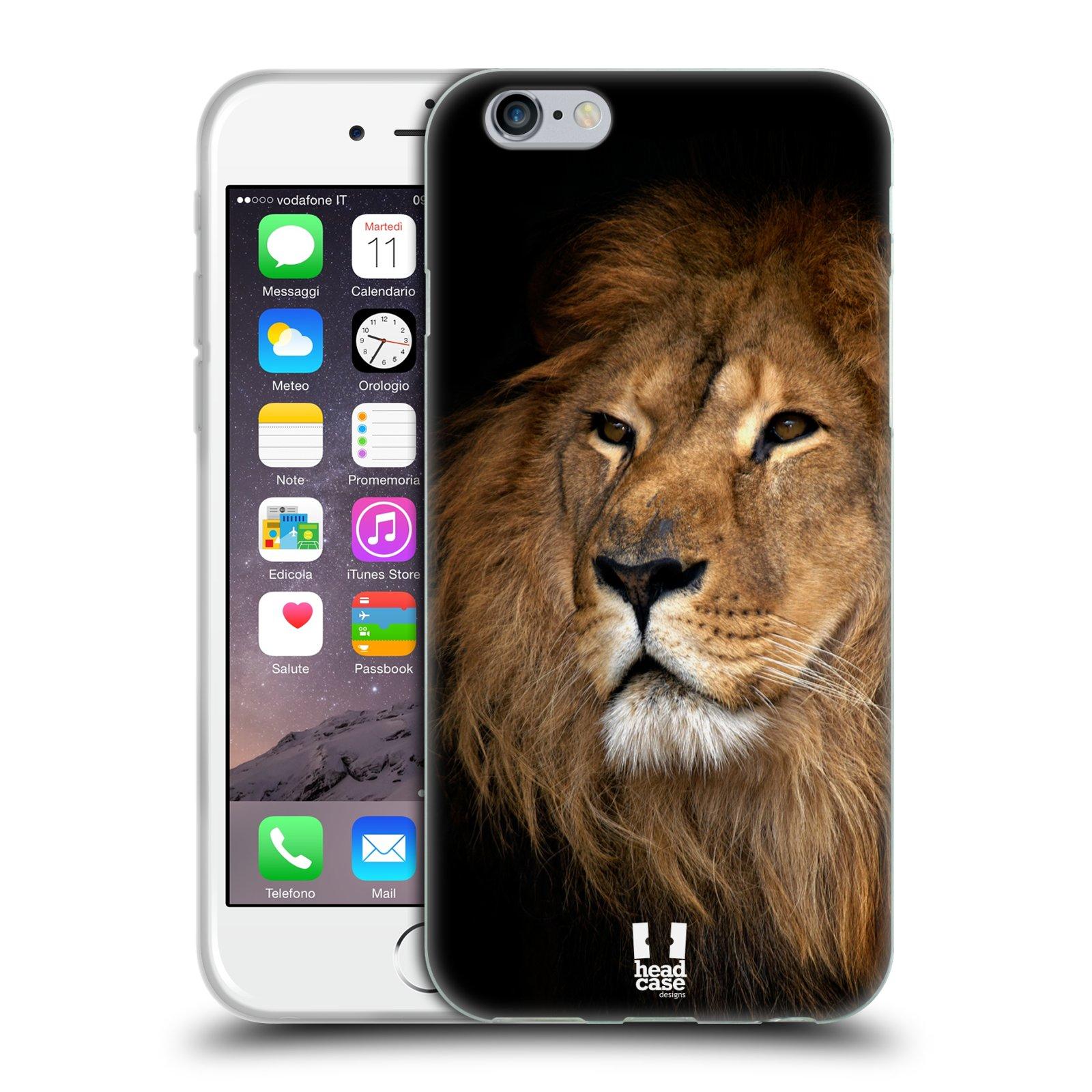 Silikonové pouzdro na mobil Apple iPhone 6 a 6S HEAD CASE DIVOČINA – LEV