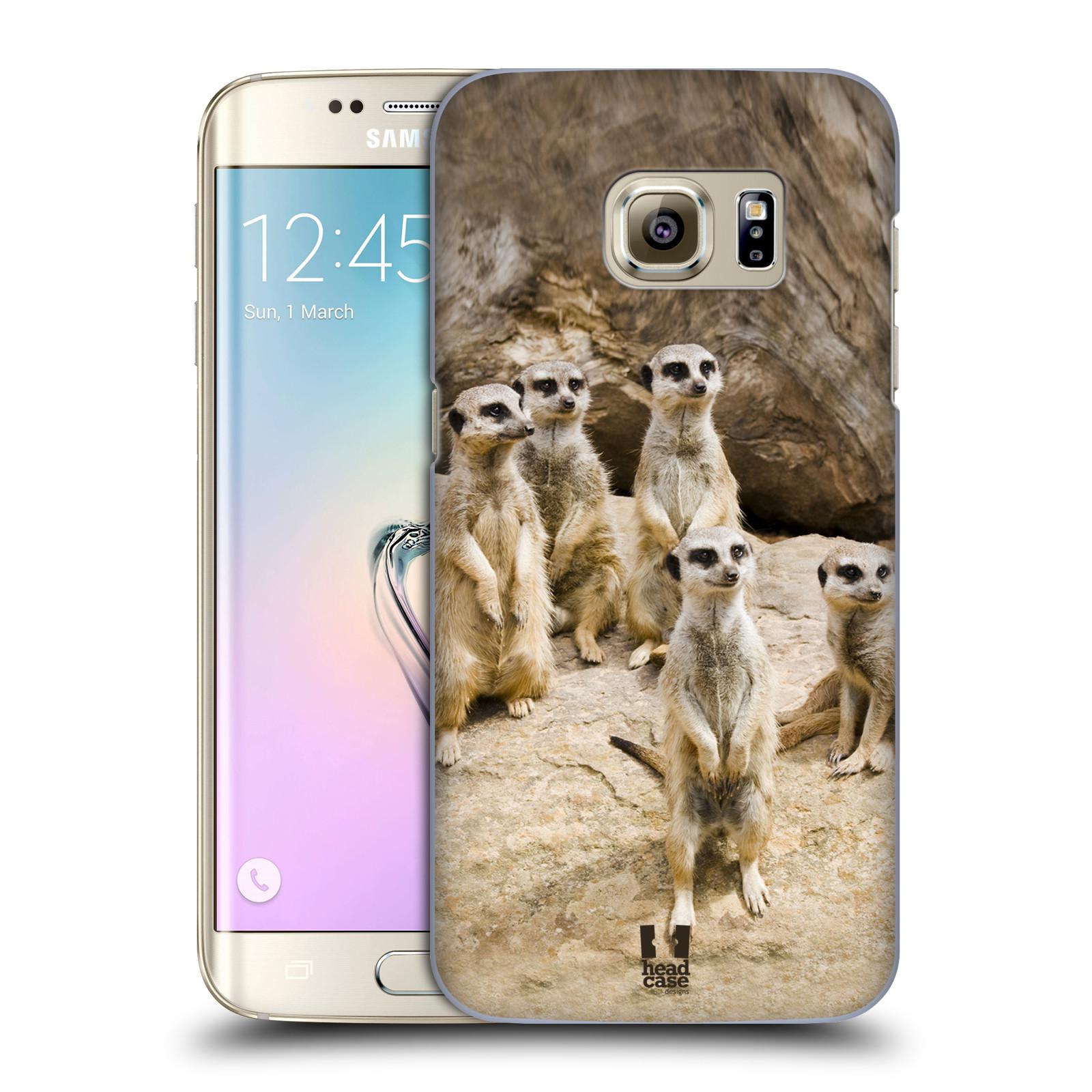 Plastové pouzdro na mobil Samsung Galaxy S7 Edge HEAD CASE DIVOČINA – SURIKATY (Kryt či obal na mobilní telefon Samsung Galaxy S7 Edge SM-G935F)