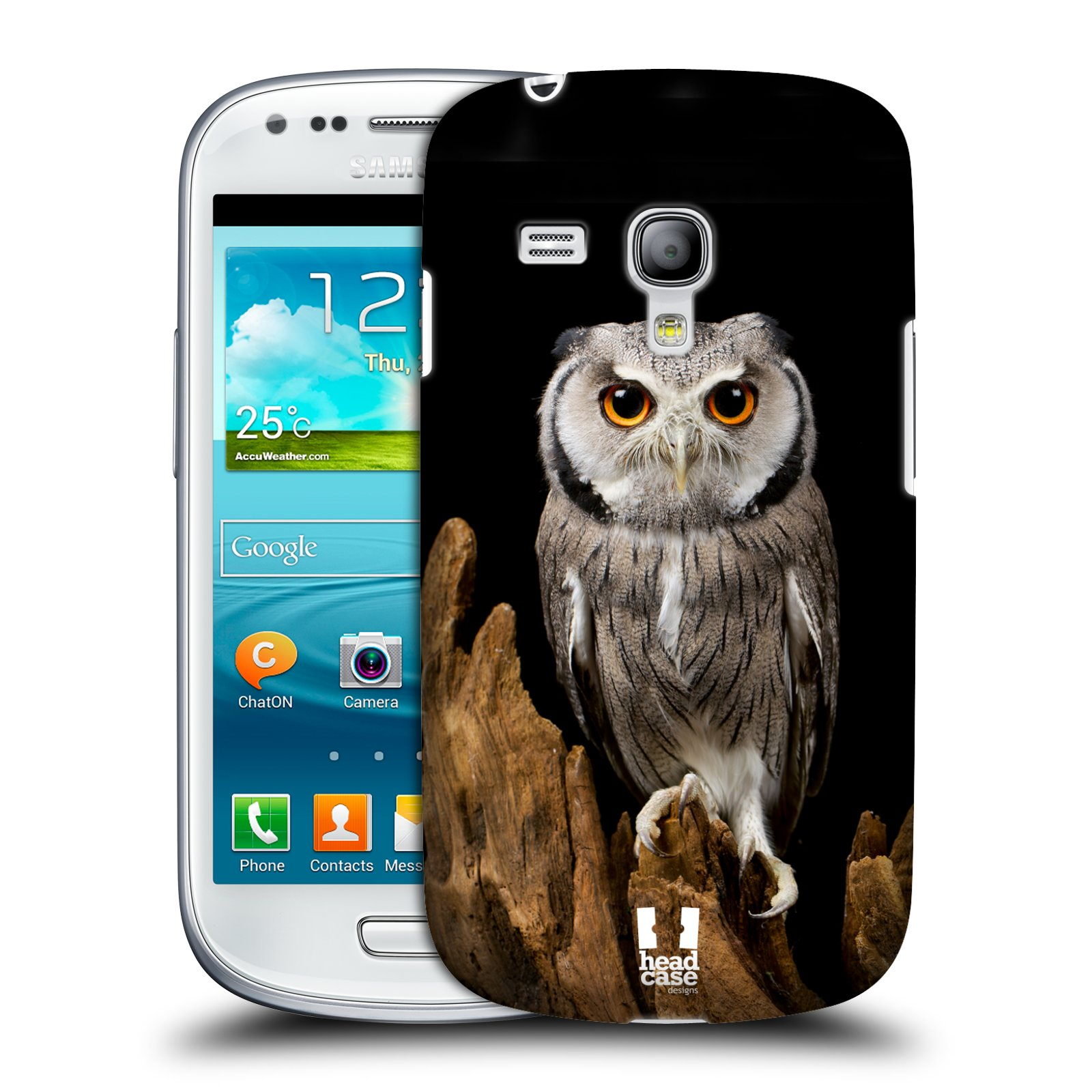 Plastové pouzdro na mobil Samsung Galaxy S3 Mini VE HEAD CASE DIVOČINA – SOVA (Kryt či obal na mobilní telefon Samsung Galaxy S3 Mini VE GT-i8200)
