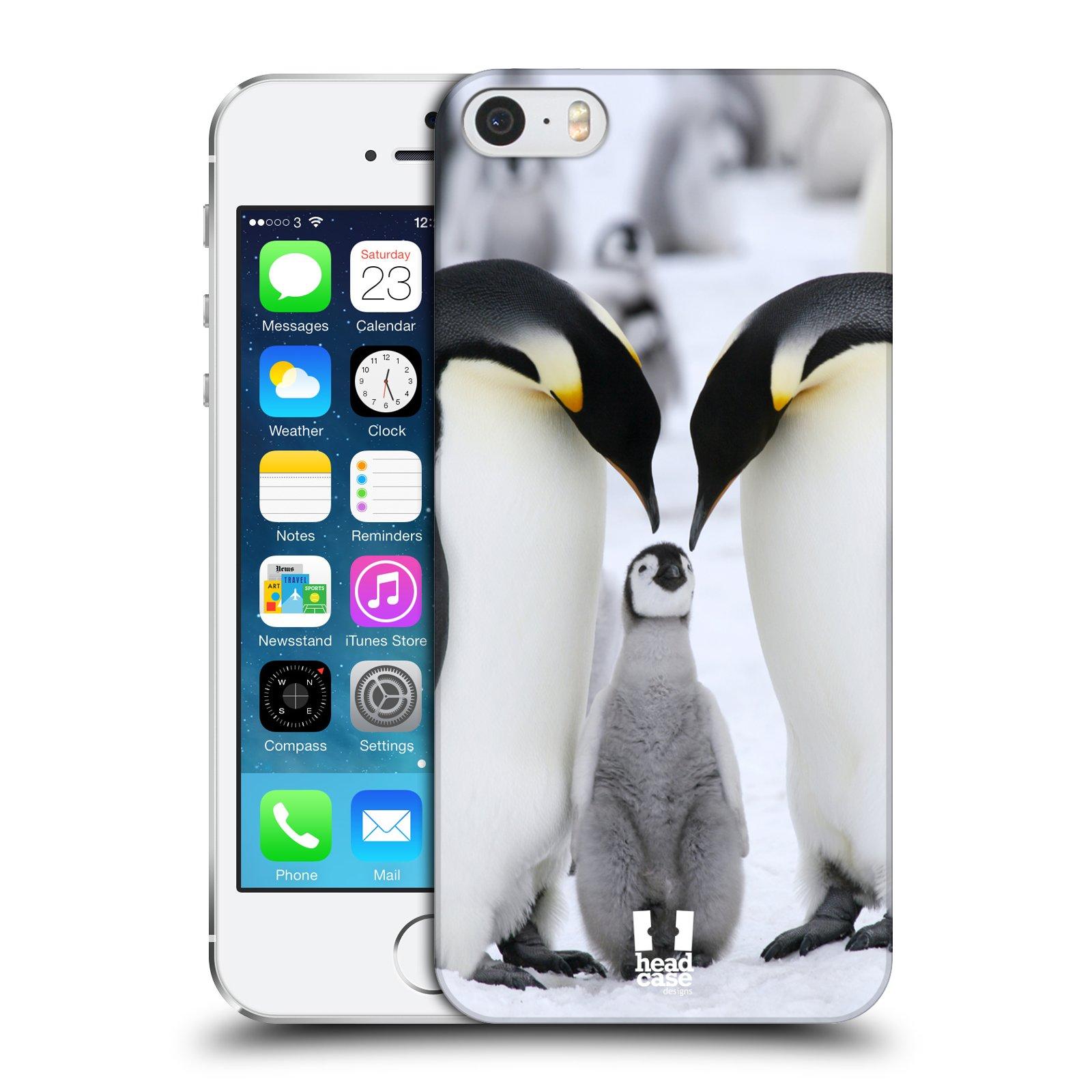 Plastové pouzdro na mobil Apple iPhone SE, 5 a 5S HEAD CASE DIVOČINA – TUČŇÁCI