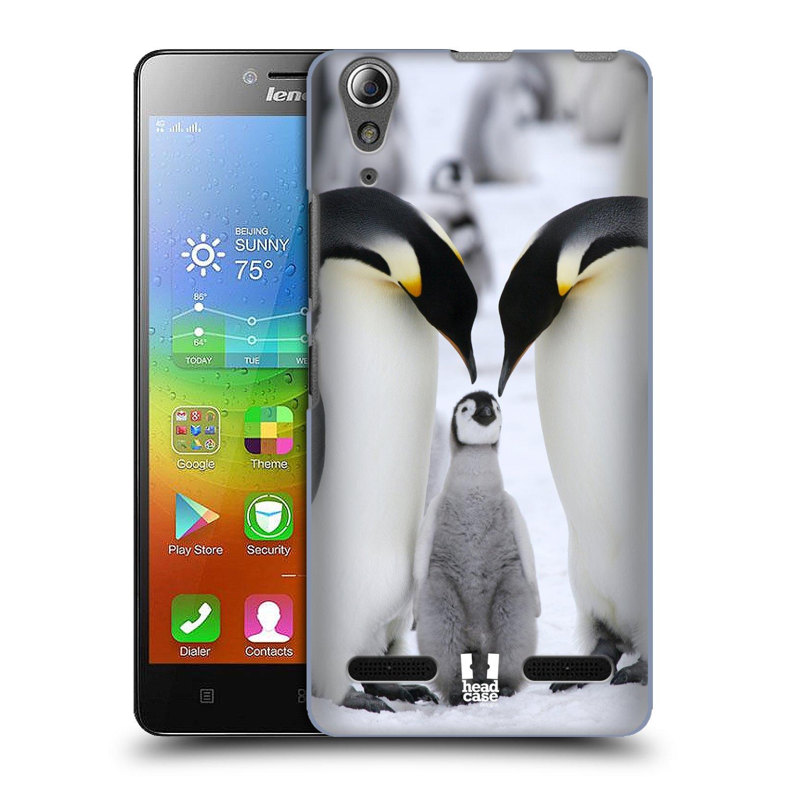 Plastové pouzdro na mobil Lenovo A6000 HEAD CASE DIVOČINA – TUČŇÁCI (Kryt či obal na mobilní telefon Lenovo A6000 / A6000 Plus)