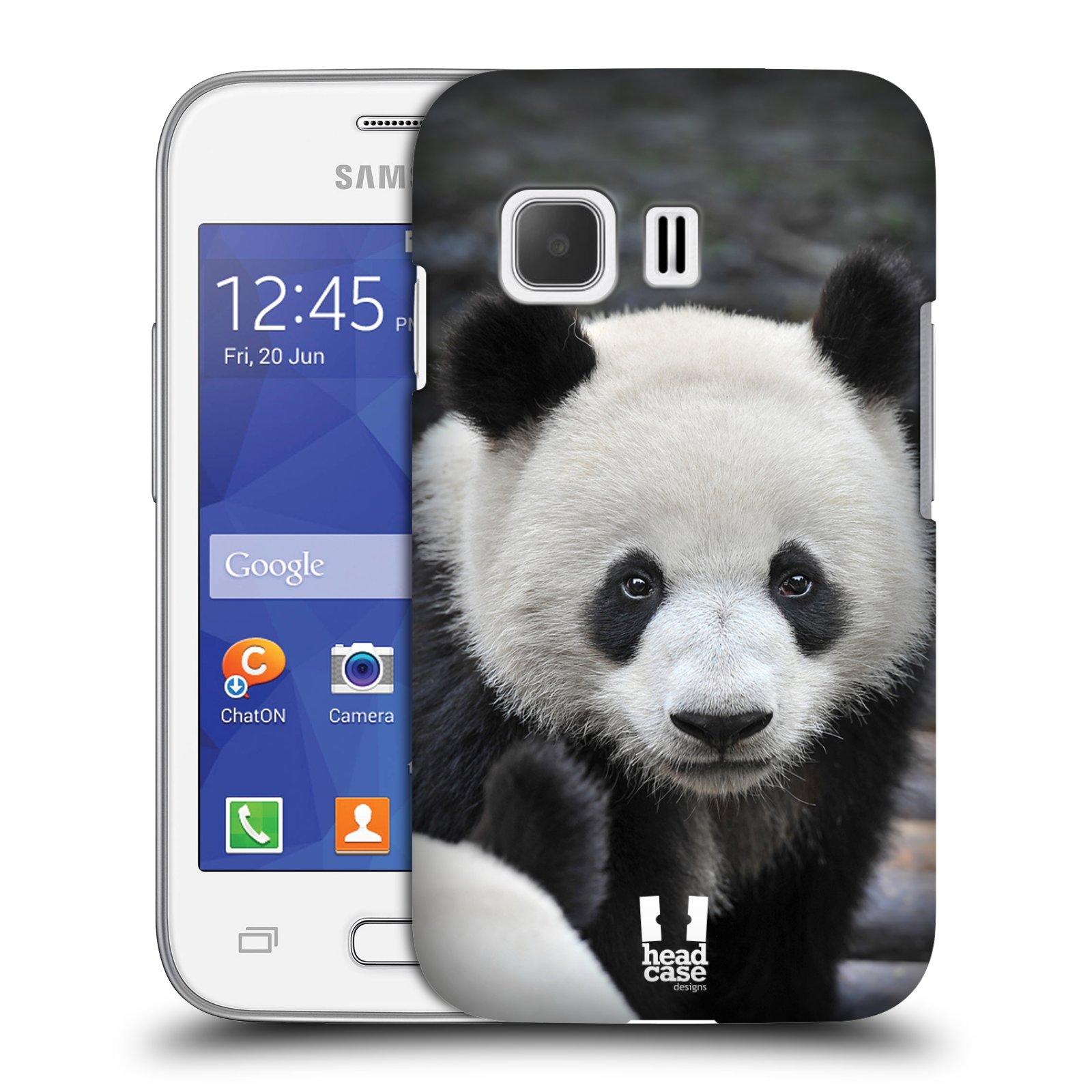 Plastové pouzdro na mobil Samsung Galaxy Young 2 HEAD CASE DIVOČINA – PANDA