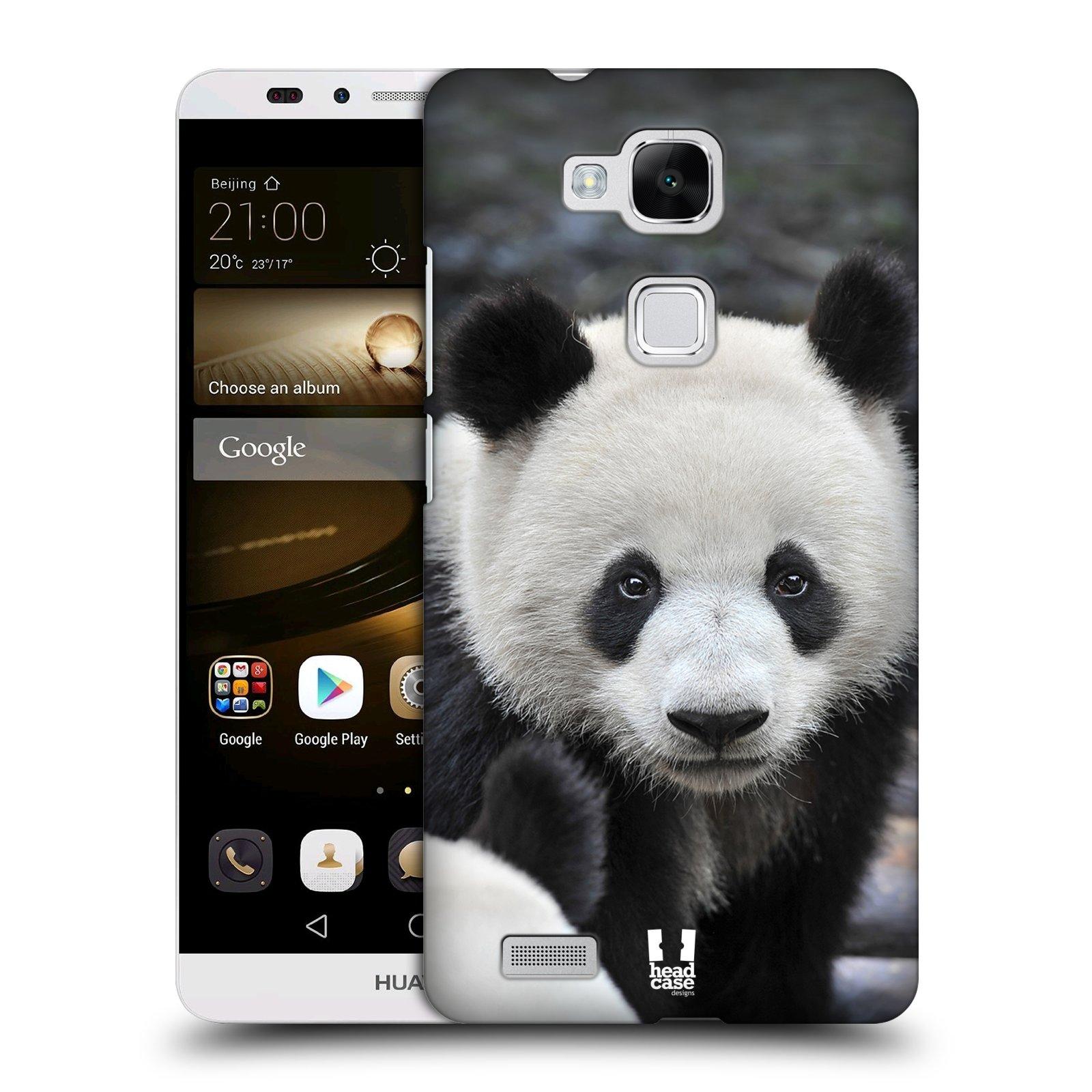 Plastové pouzdro na mobil Huawei Ascend Mate 7 HEAD CASE DIVOČINA – PANDA (Kryt či obal na mobilní telefon Huawei Ascend Mate7)