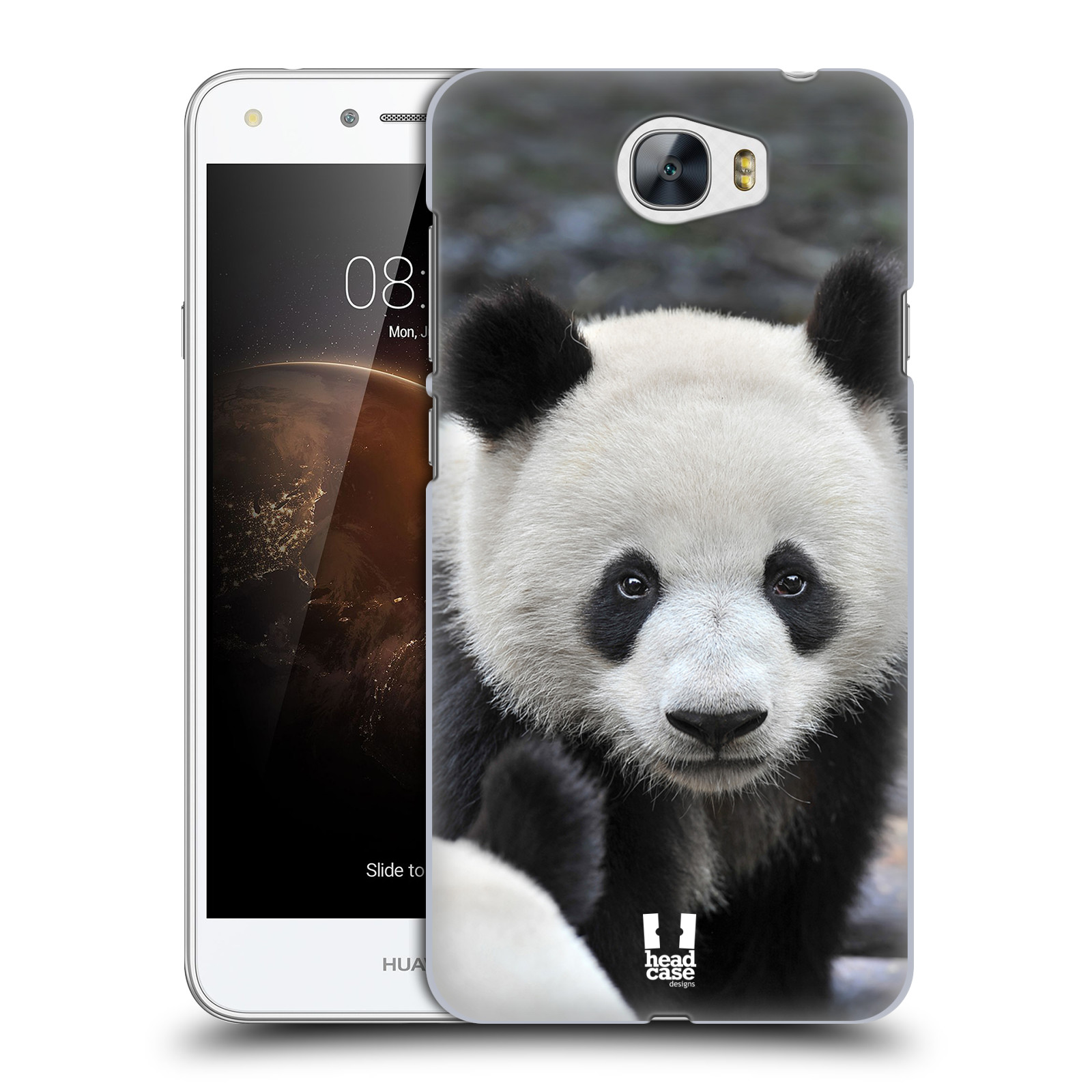Plastové pouzdro na mobil Huawei Y6 II Compact HEAD CASE DIVOČINA – PANDA