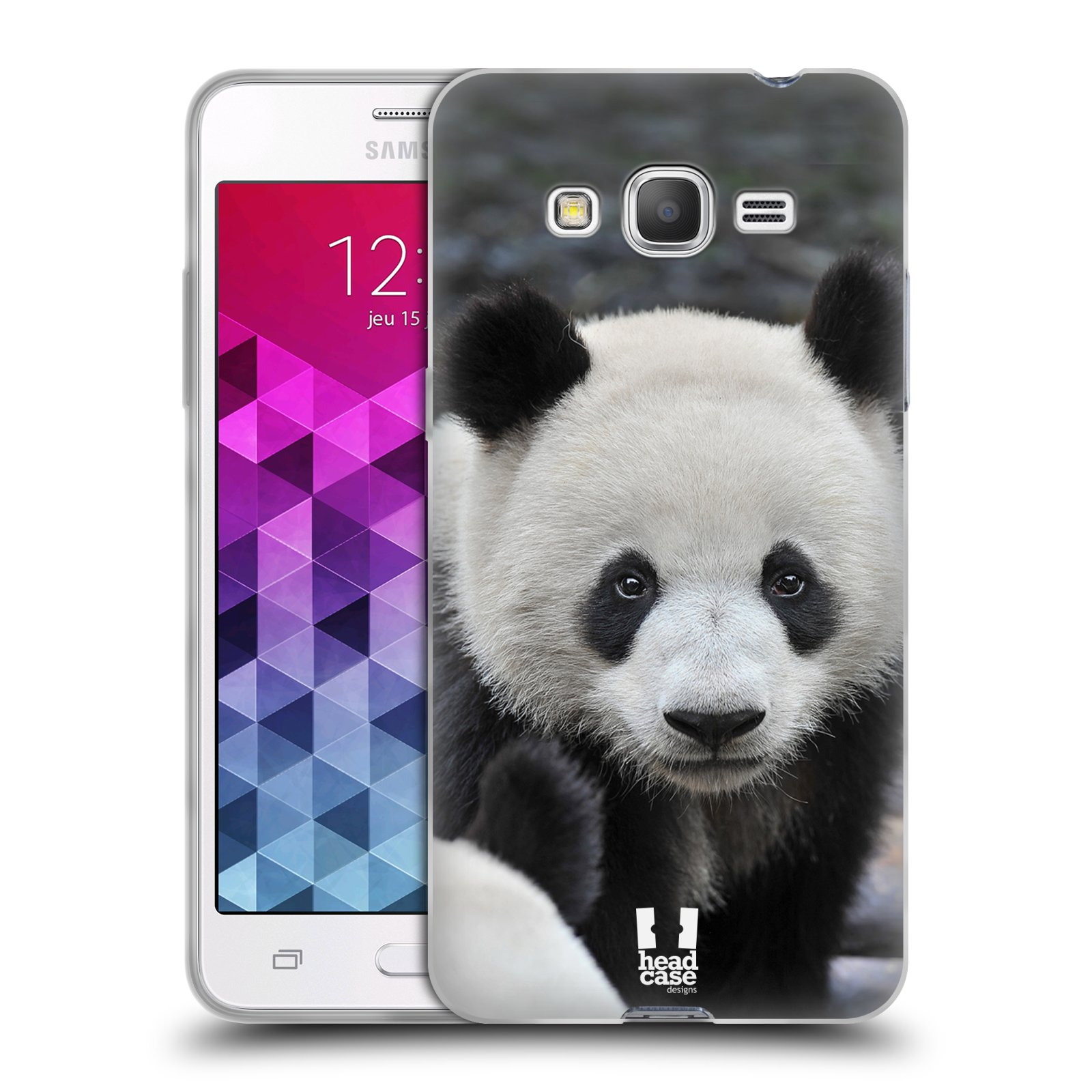 Silikonové pouzdro na mobil Samsung Galaxy Grand Prime HEAD CASE DIVOČINA – PANDA