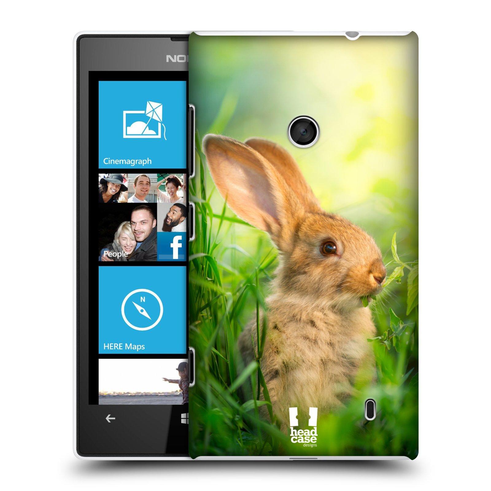 Plastové pouzdro na mobil Nokia Lumia 520 HEAD CASE DIVOČINA – KRÁLÍČEK (Kryt či obal na mobilní telefon Nokia Lumia 520 )