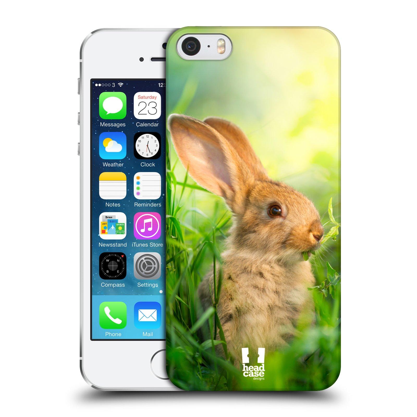 Plastové pouzdro na mobil Apple iPhone SE, 5 a 5S HEAD CASE DIVOČINA – KRÁLÍČEK