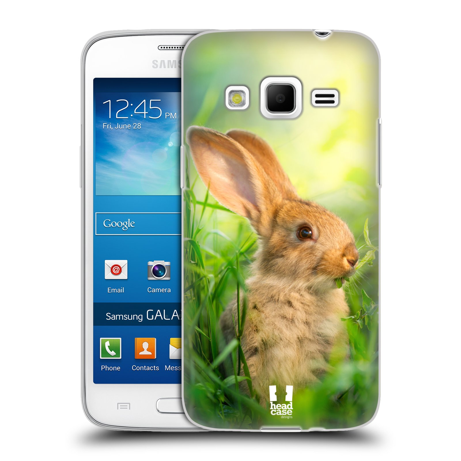 Silikonové pouzdro na mobil Samsung Galaxy Express 2 HEAD CASE DIVOČINA – KRÁLÍČEK (Silikonový kryt či obal na mobilní telefon Samsung Galaxy Express 2 SM-G3815)