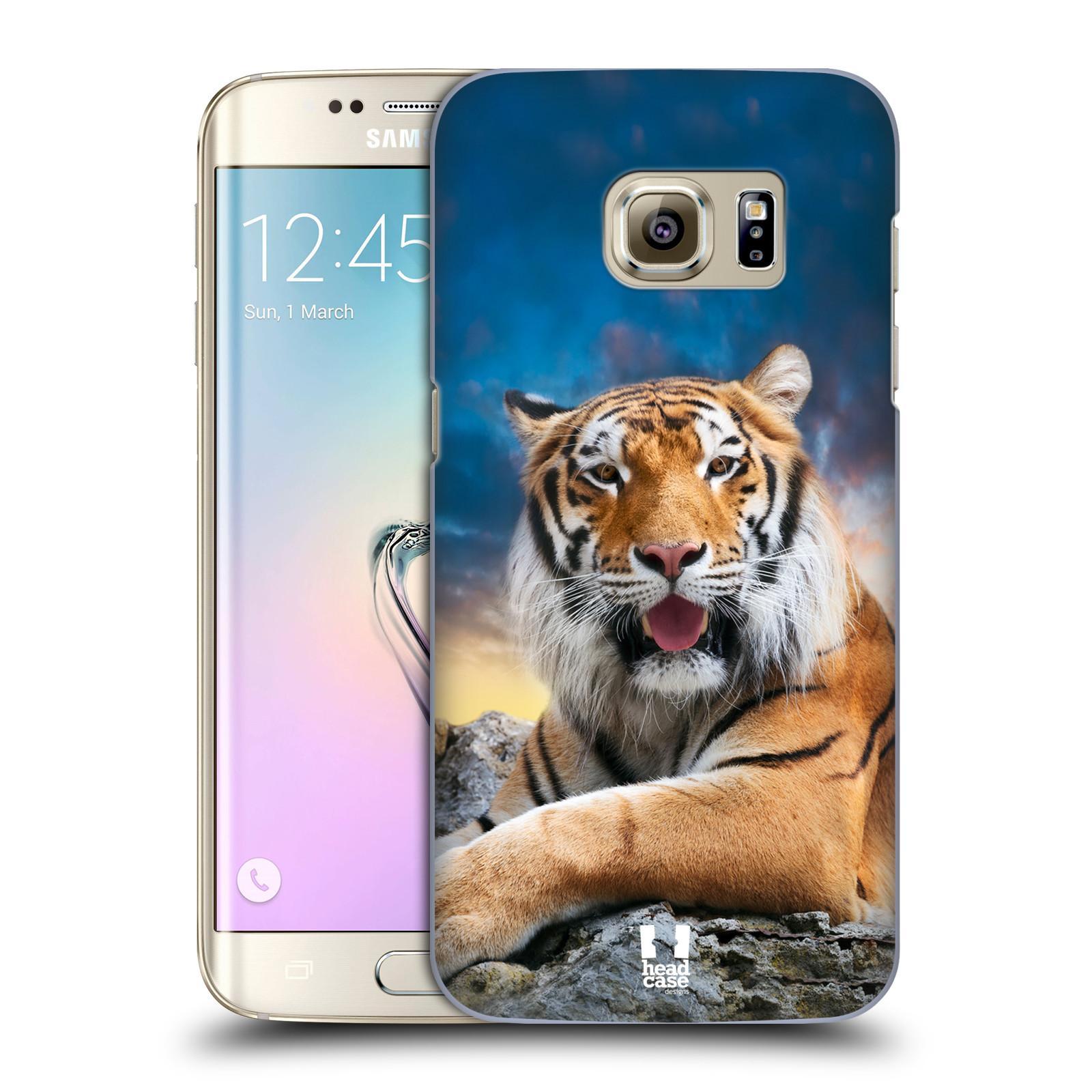 Plastové pouzdro na mobil Samsung Galaxy S7 Edge HEAD CASE DIVOČINA – TYGR (Kryt či obal na mobilní telefon Samsung Galaxy S7 Edge SM-G935F)