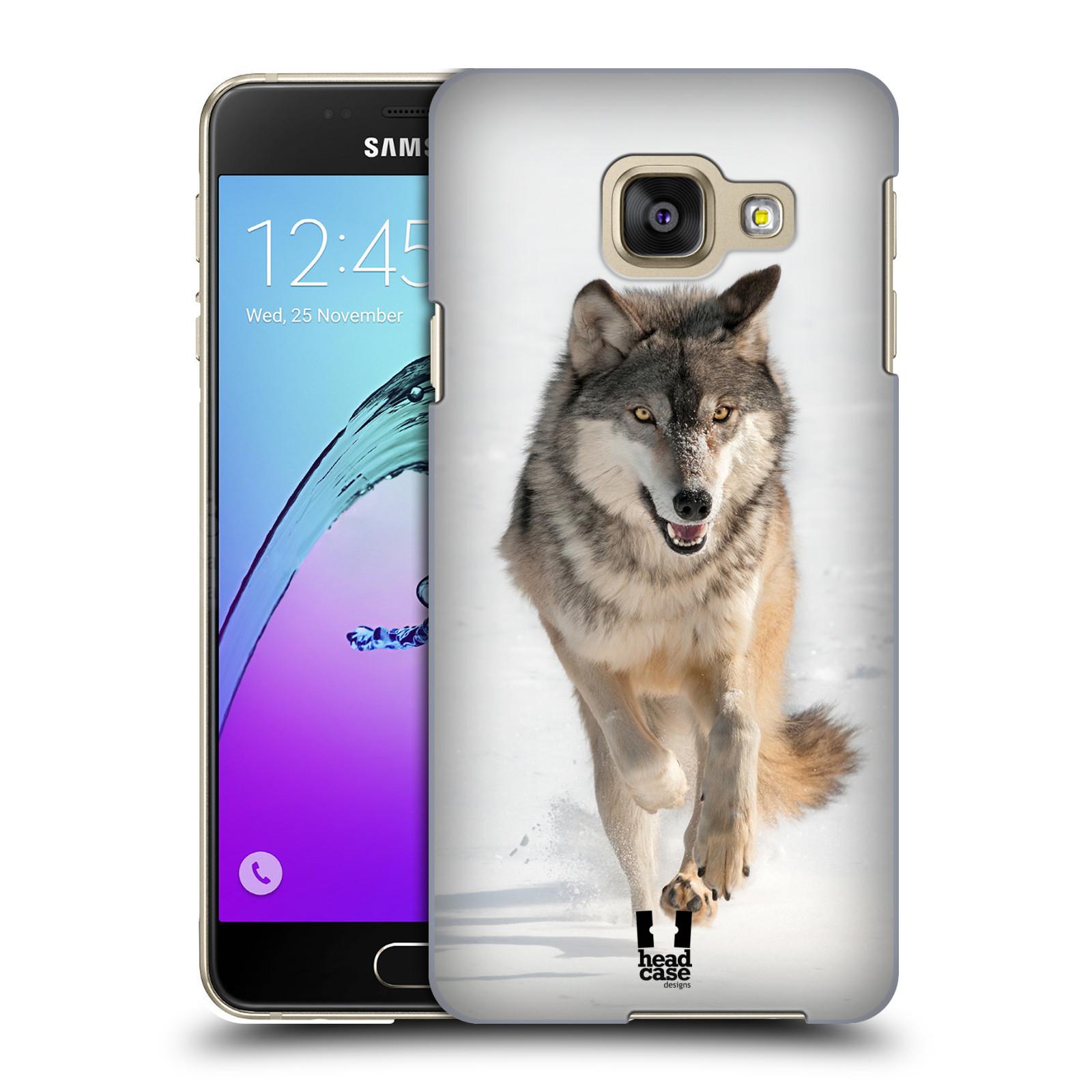 Plastové pouzdro na mobil Samsung Galaxy A3 (2016) HEAD CASE DIVOČINA – VLK