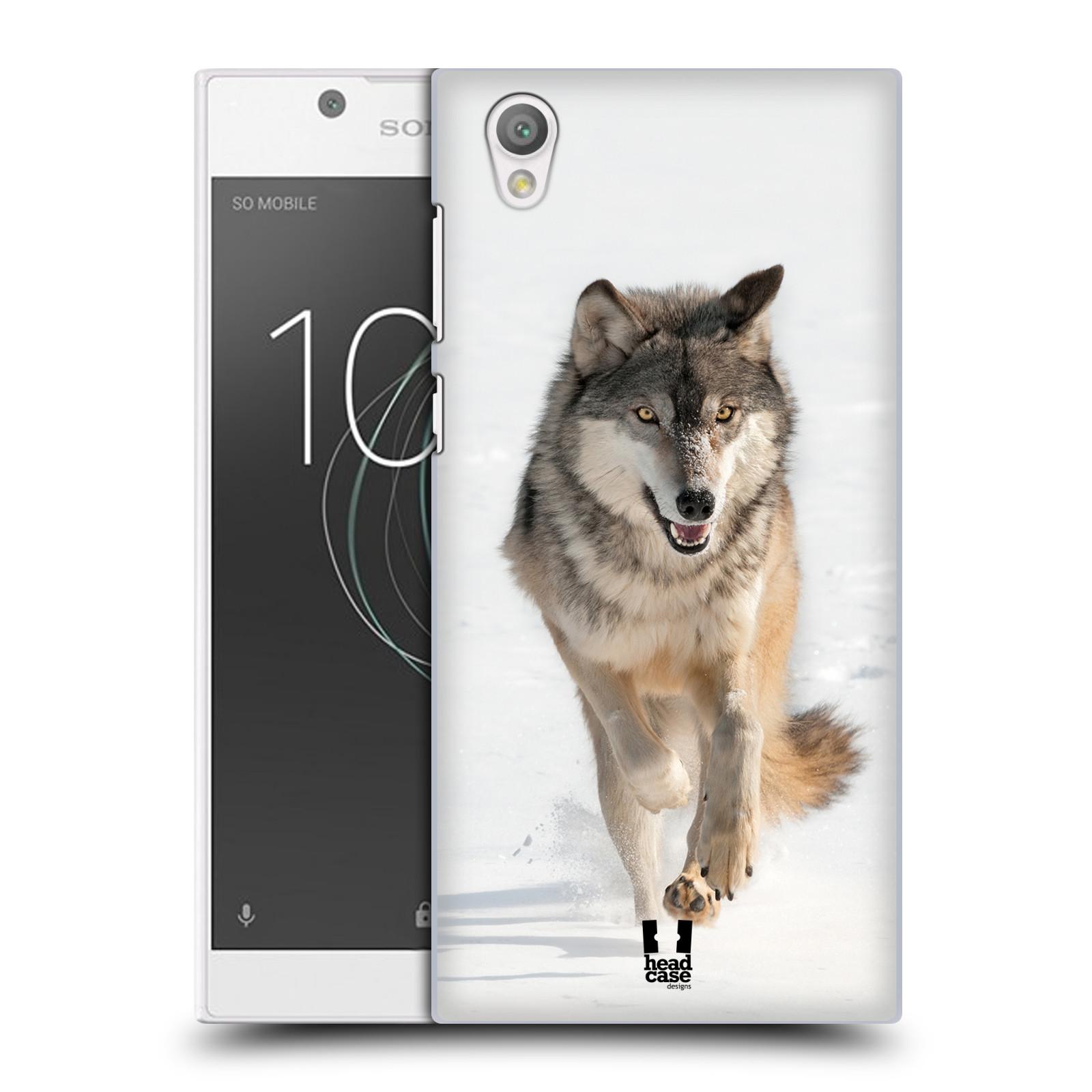 Plastové pouzdro na mobil Sony Xperia L1 - Head Case - DIVOČINA – VLK