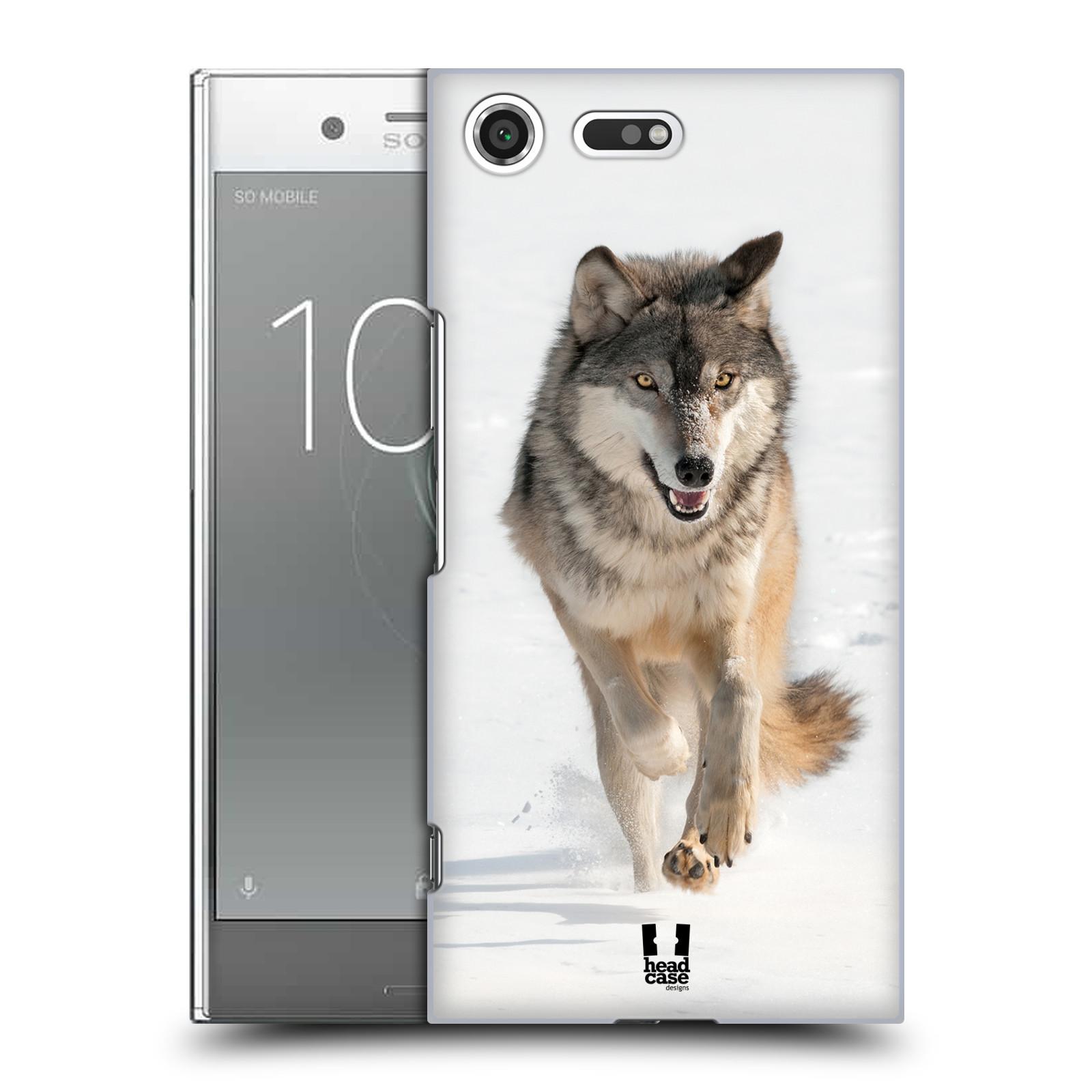 Plastové pouzdro na mobil Sony Xperia XZ Premium Head Case - DIVOČINA - VLK (Plastový kryt či obal na mobilní telefon Sony Xperia XZ Premium G8142)