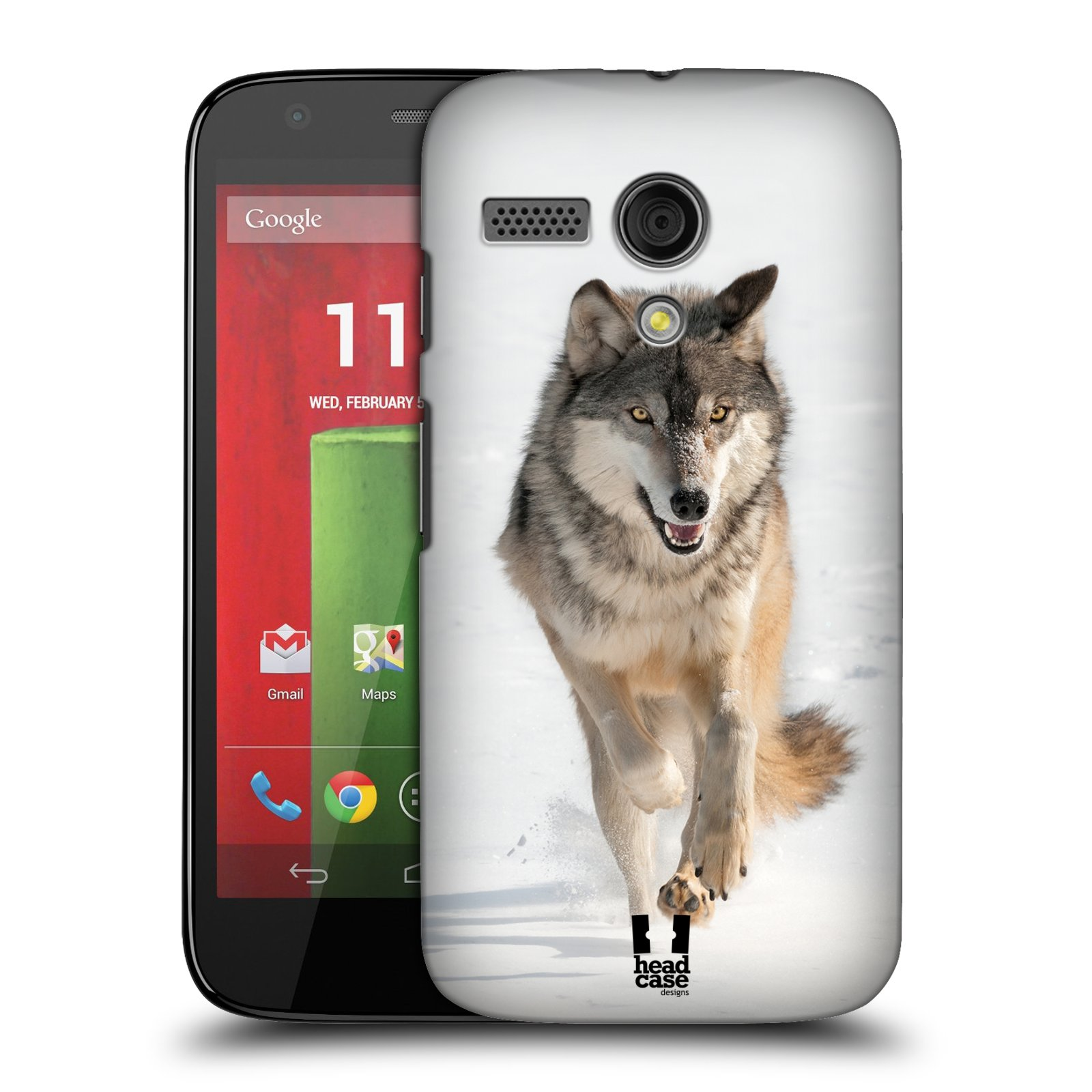 Plastové pouzdro na mobil Motorola Moto G HEAD CASE DIVOČINA – VLK