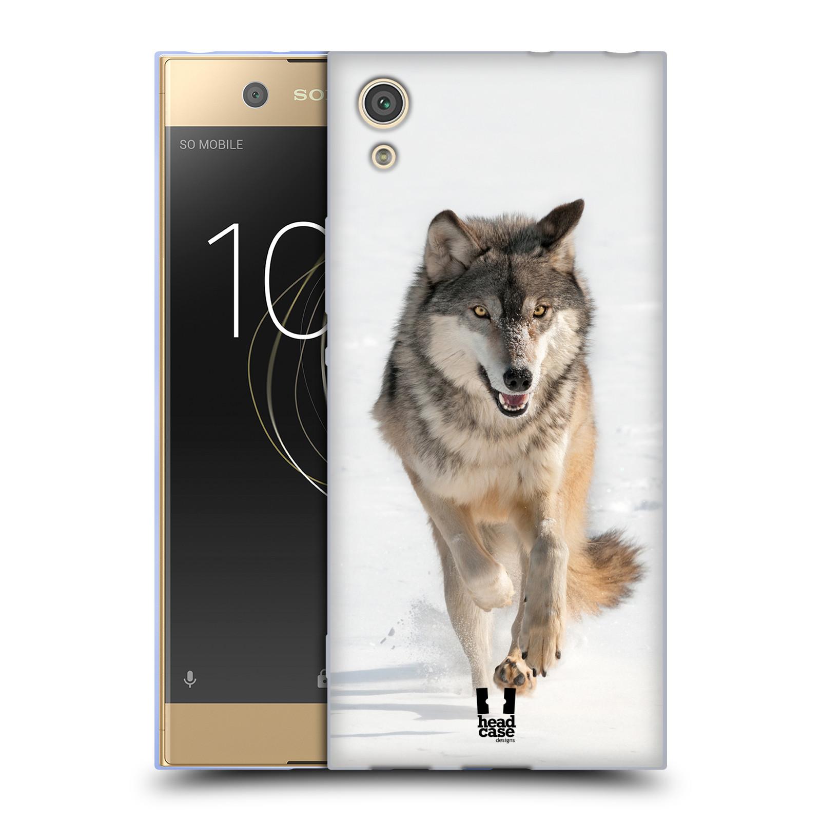 Silikonové pouzdro na mobil Sony Xperia XA1 - Head Case - DIVOČINA – VLK (Silikonový kryt či obal na mobilní telefon Sony Xperia XA1 G3121 s motivem DIVOČINA – VLK)