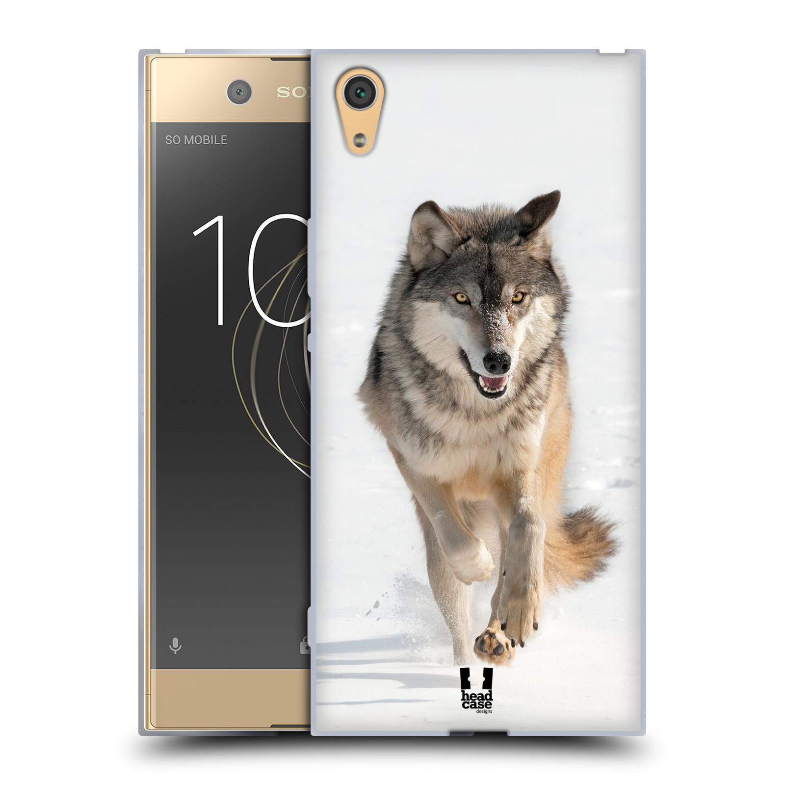Silikonové pouzdro na mobil Sony Xperia XA1 Ultra - Head Case - DIVOČINA – VLK (Silikonový kryt či obal na mobilní telefon Sony Xperia XA1 Ultra G3221 s motivem DIVOČINA – VLK)
