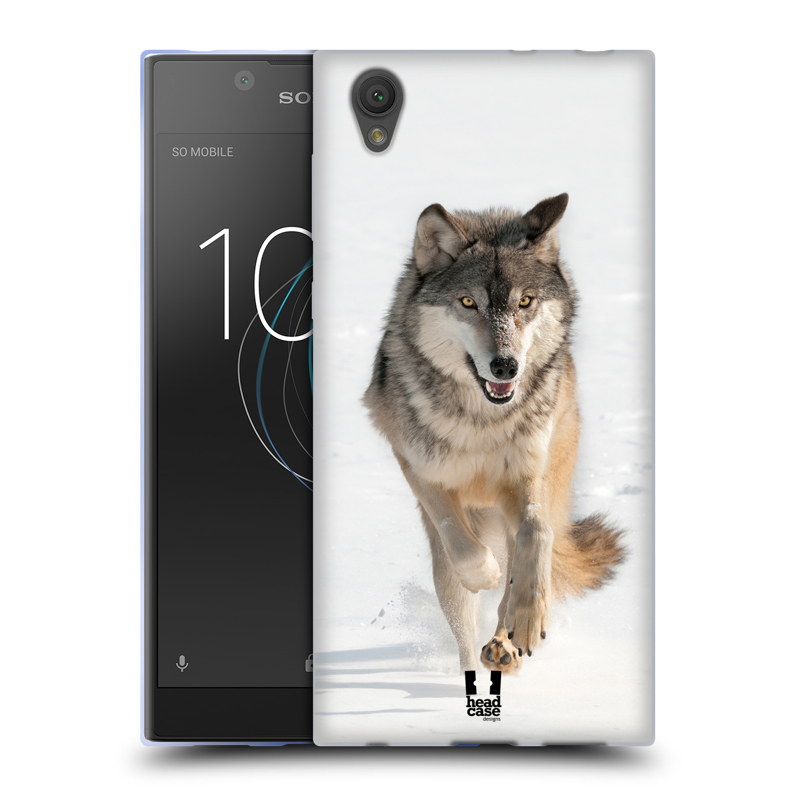 Silikonové pouzdro na mobil Sony Xperia L1 - Head Case - DIVOČINA – VLK (Silikonový kryt či obal na mobilní telefon Sony Xperia L1 G3311 s motivem DIVOČINA – VLK)