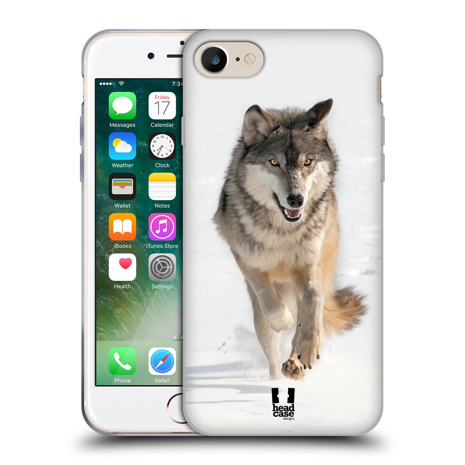 Silikonové pouzdro na mobil Apple iPhone 8 - Head Case - DIVOČINA – VLK (Silikonový kryt či obal na mobilní telefon Apple iPhone 8 s motivem DIVOČINA – VLK)
