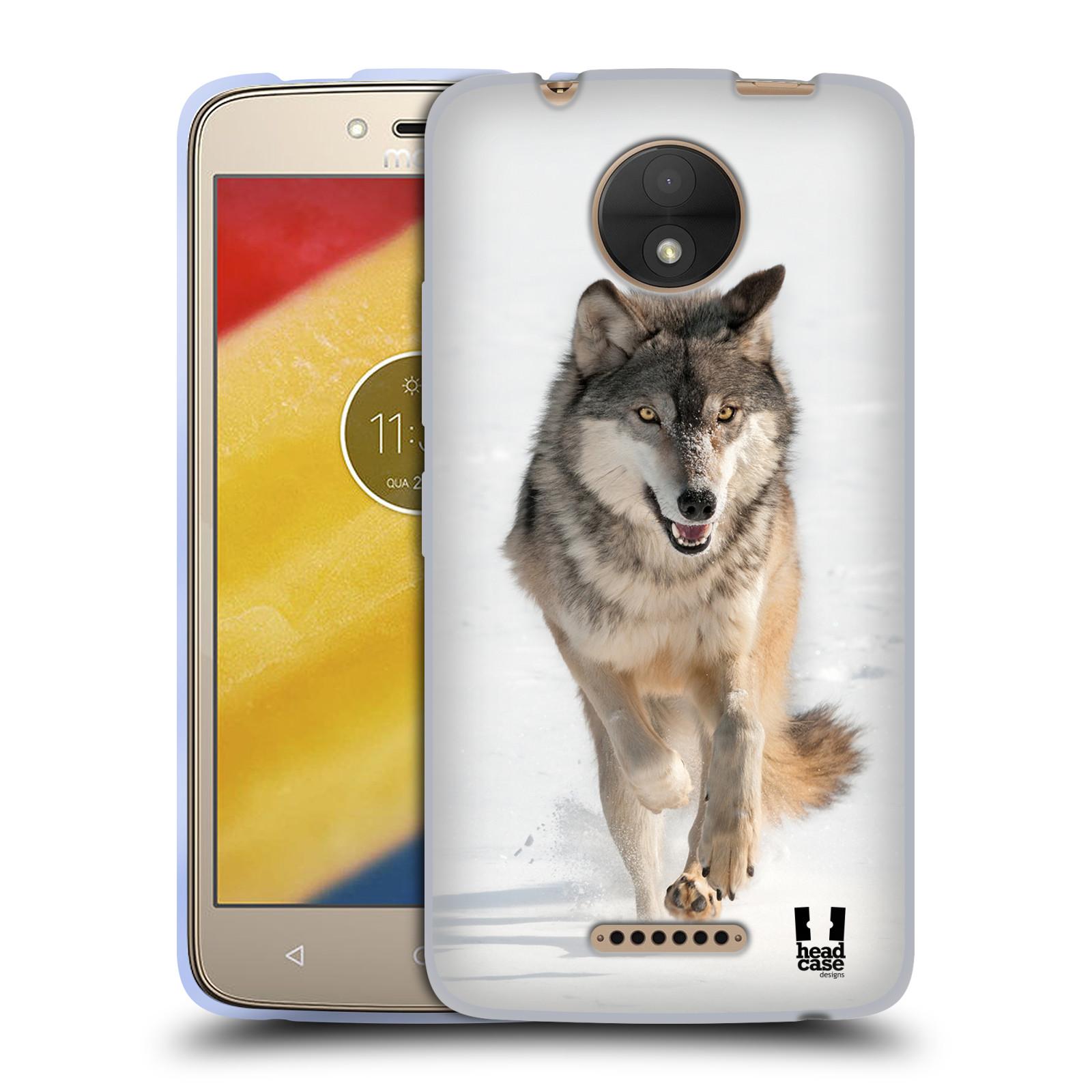 Silikonové pouzdro na mobil Lenovo Moto C - Head Case - DIVOČINA – VLK (Silikonový kryt či obal na mobilní telefon Lenovo Moto C s motivem DIVOČINA – VLK)