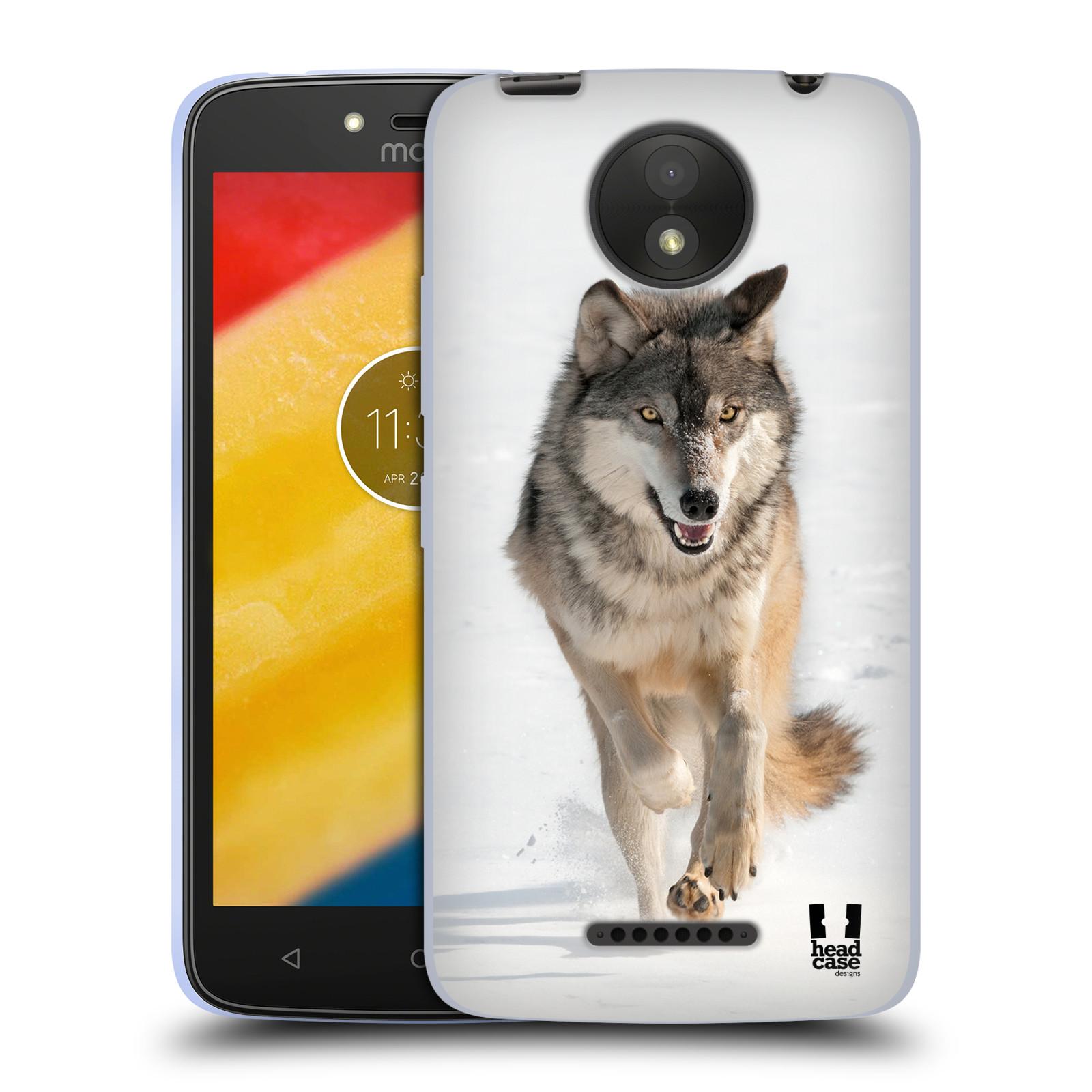 Silikonové pouzdro na mobil Lenovo Moto C Plus - Head Case - DIVOČINA – VLK (Silikonový kryt či obal na mobilní telefon Lenovo Moto C Plus s motivem DIVOČINA – VLK)