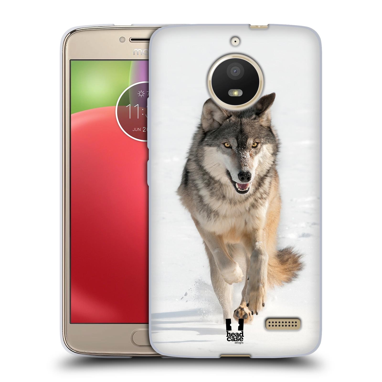 Silikonové pouzdro na mobil Lenovo Moto E4 - Head Case - DIVOČINA – VLK (Silikonový kryt či obal na mobilní telefon Lenovo Moto E4 s motivem DIVOČINA – VLK)