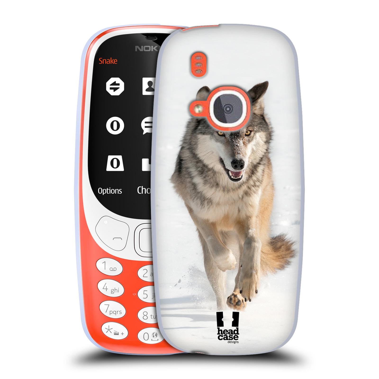 Silikonové pouzdro na mobil Nokia 3310 - Head Case - DIVOČINA – VLK (Silikonový kryt či obal na mobilní telefon Nokia 3310 (2017) s motivem DIVOČINA – VLK)