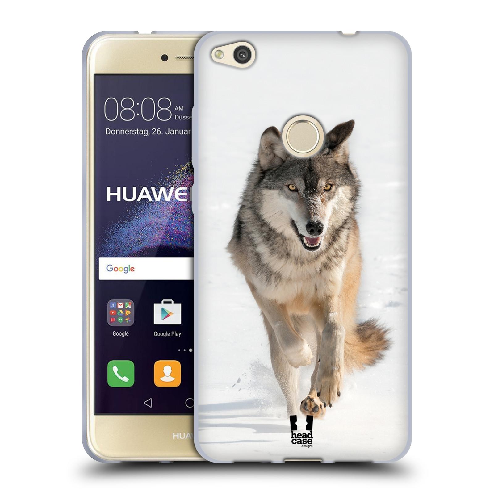 Silikonové pouzdro na mobil Honor 8 Lite - Head Case - DIVOČINA – VLK (Silikonový kryt či obal na mobilní telefon Honor 8 Lite s motivem DIVOČINA – VLK)