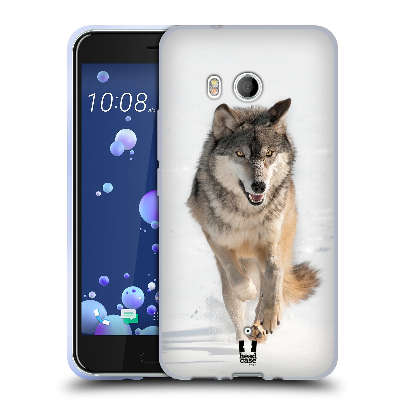 Silikonové pouzdro na mobil HTC U11 - Head Case - DIVOČINA – VLK (Silikonový kryt či obal na mobilní telefon HTC U11 s motivem DIVOČINA – VLK)
