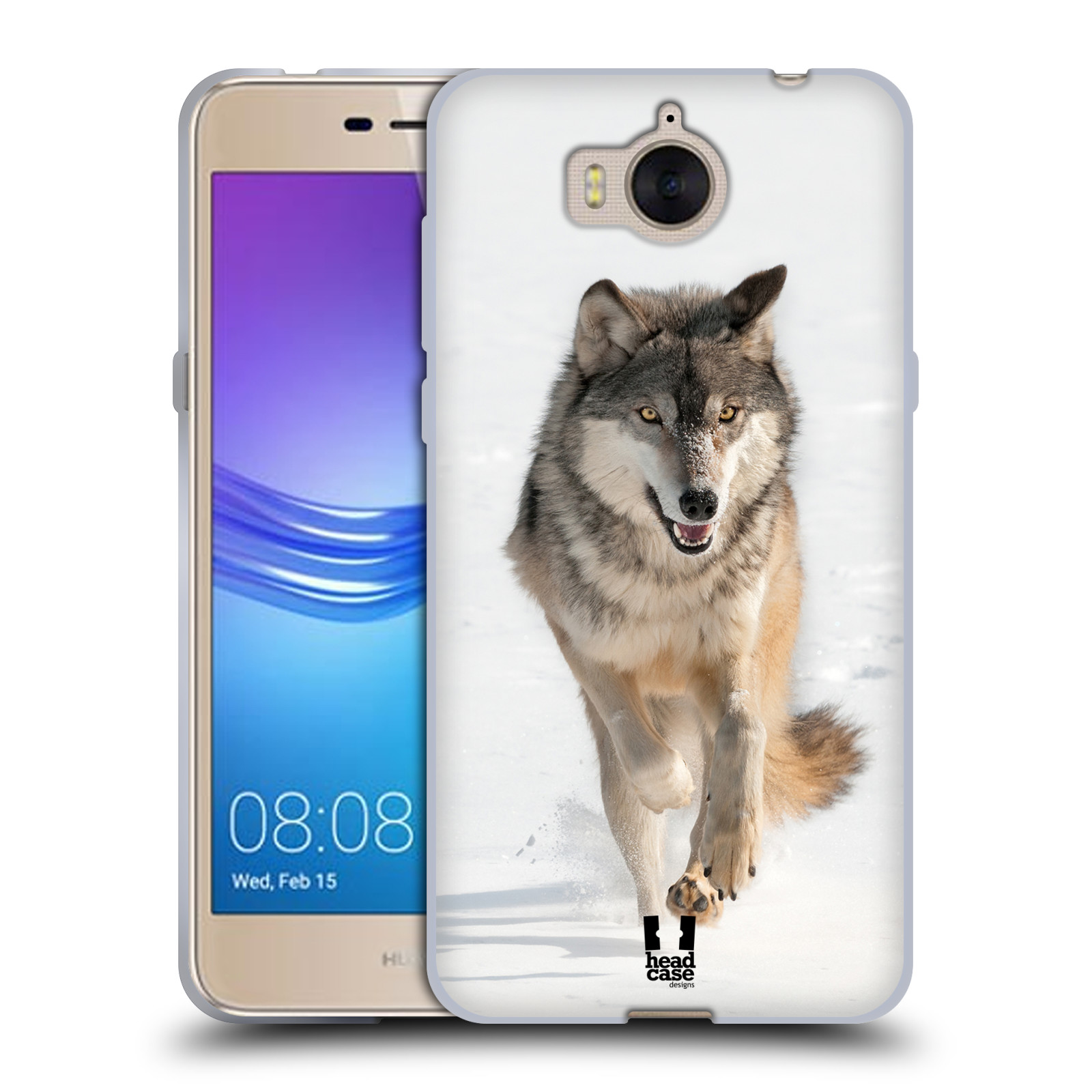 Silikonové pouzdro na mobil Huawei Y6 2017 - Head Case - DIVOČINA – VLK (Silikonový kryt či obal na mobilní telefon Huawei Y6 (2017) s motivem DIVOČINA – VLK)