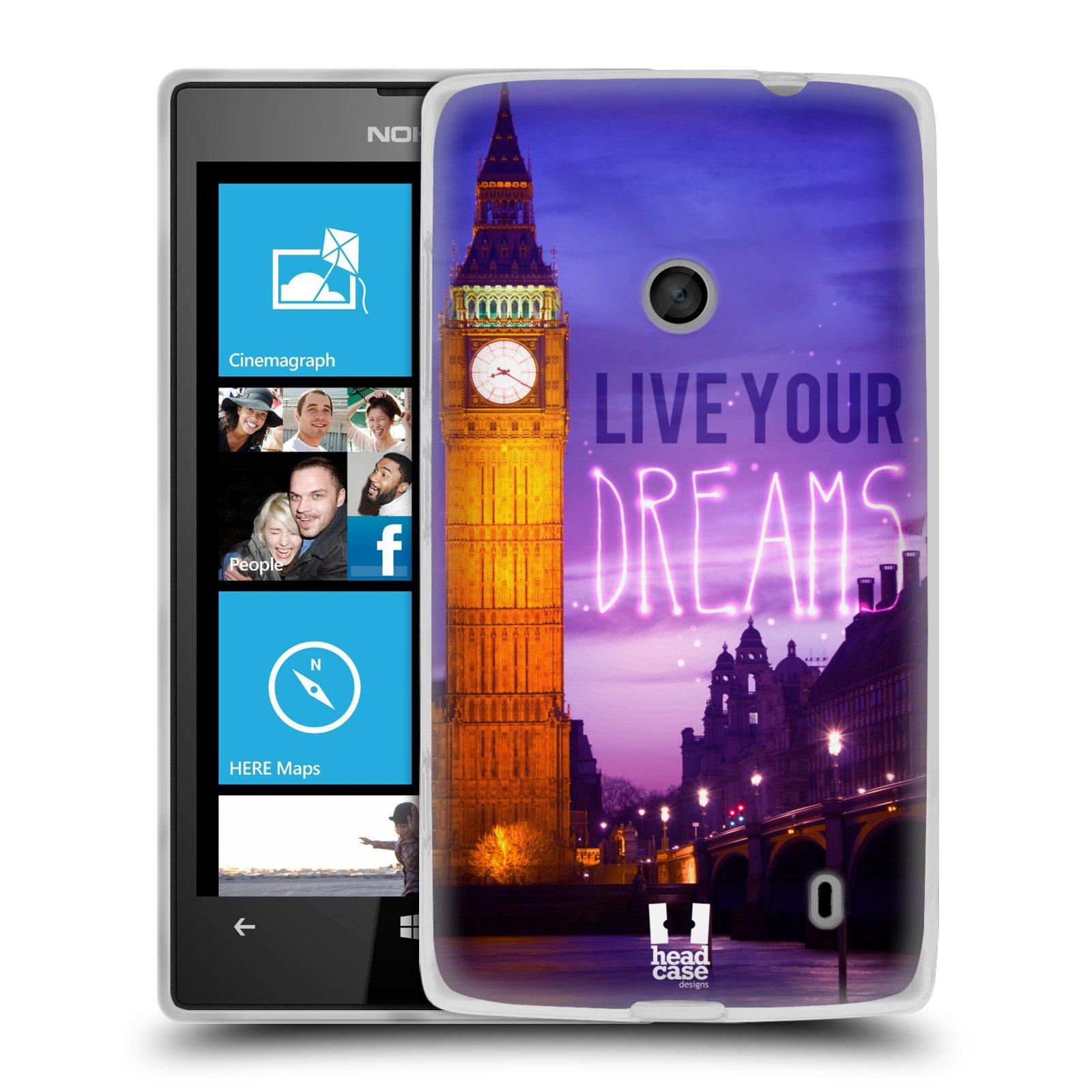 Silikonové pouzdro na mobil Nokia Lumia 520 HEAD CASE DREAMS (Silikonový Kryt či obal na mobilní telefon Nokia Lumia 520)