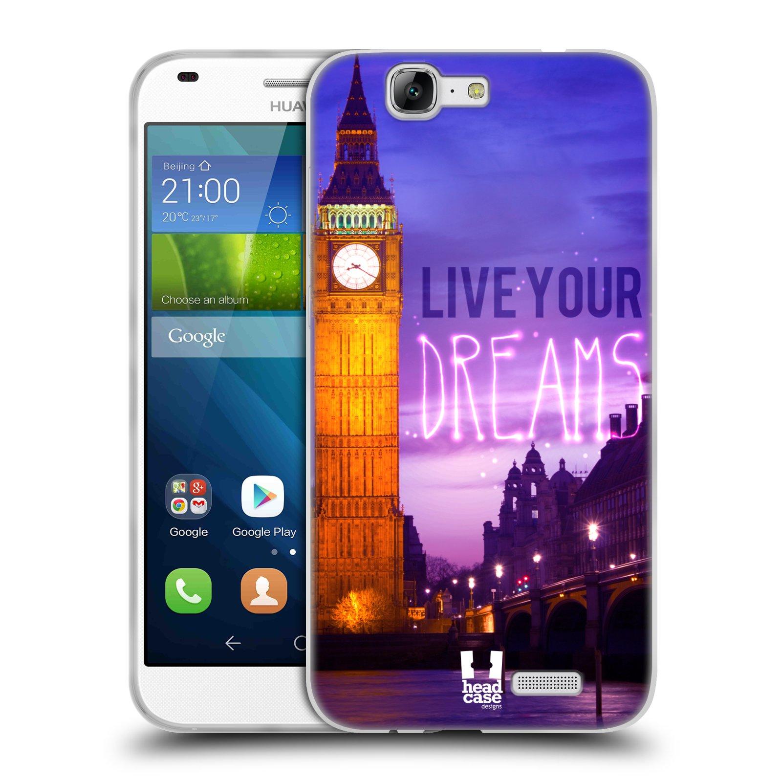 Silikonové pouzdro na mobil Huawei Ascend G7 HEAD CASE DREAMS (Silikonový kryt či obal na mobilní telefon Huawei Ascend G7)