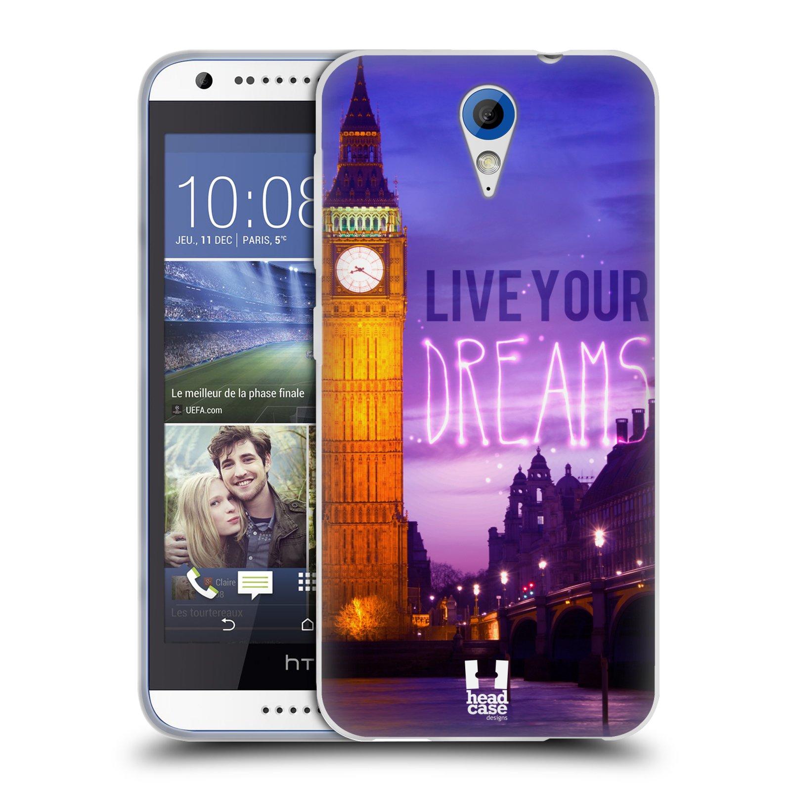 Silikonové pouzdro na mobil HTC Desire 620 HEAD CASE DREAMS (Silikonový kryt či obal na mobilní telefon HTC Desire 620)
