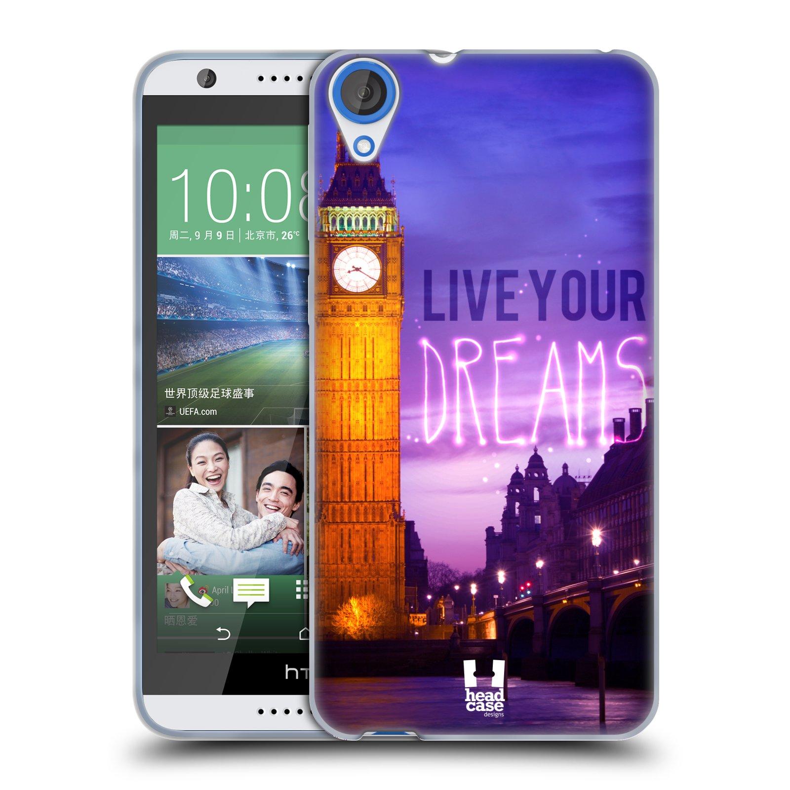 Silikonové pouzdro na mobil HTC Desire 820 HEAD CASE DREAMS (Silikonový kryt či obal na mobilní telefon HTC Desire 820)