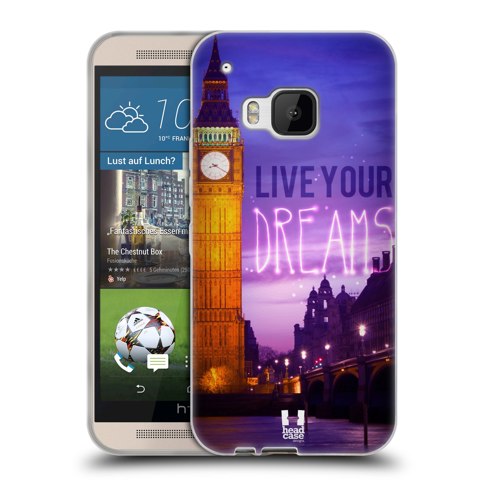 Silikonové pouzdro na mobil HTC ONE M9 HEAD CASE DREAMS (Silikonový kryt či obal na mobilní telefon HTC ONE M9)