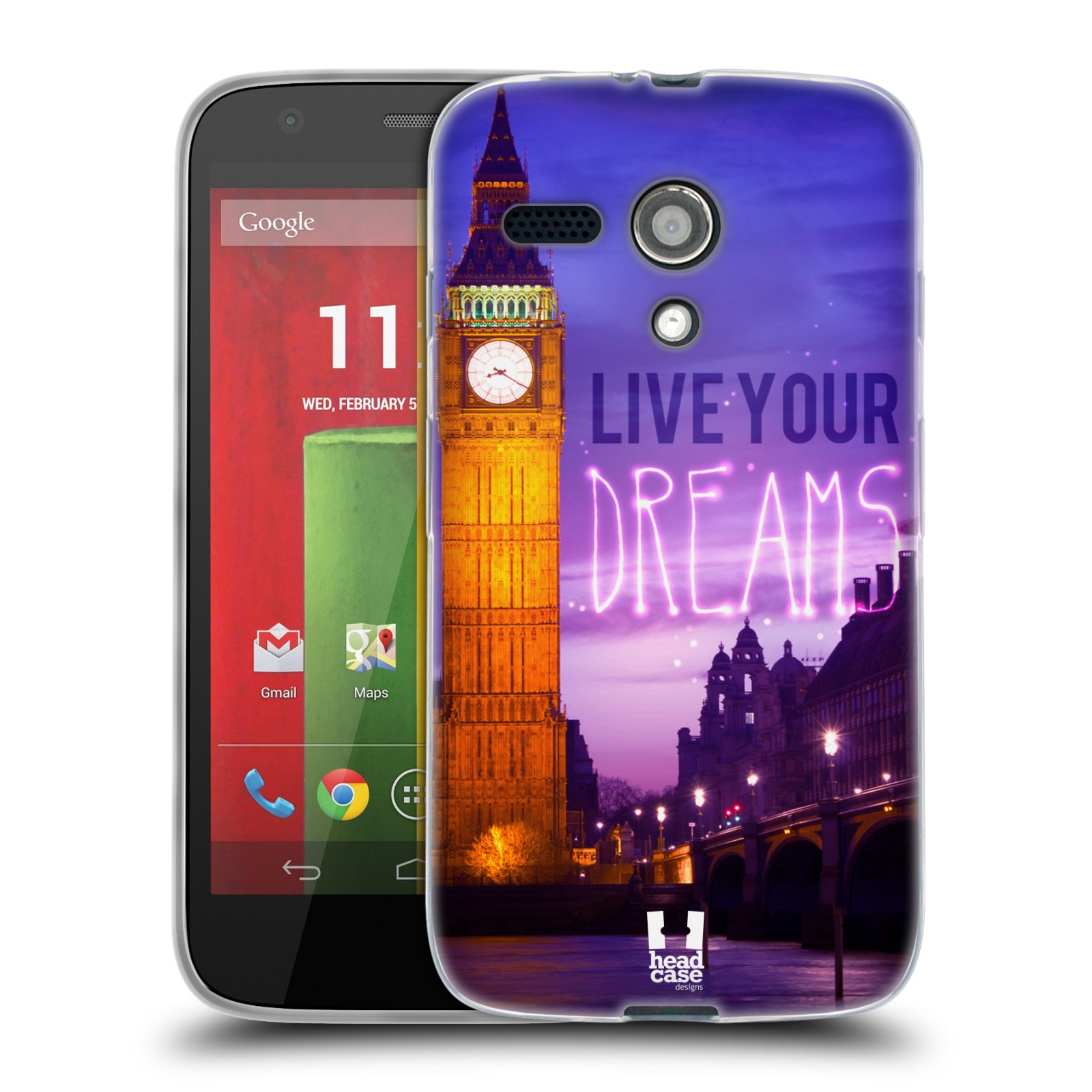 Silikonové pouzdro na mobil Motorola Moto G HEAD CASE DREAMS (Silikonový kryt či obal na mobilní telefon Motorola Moto G)