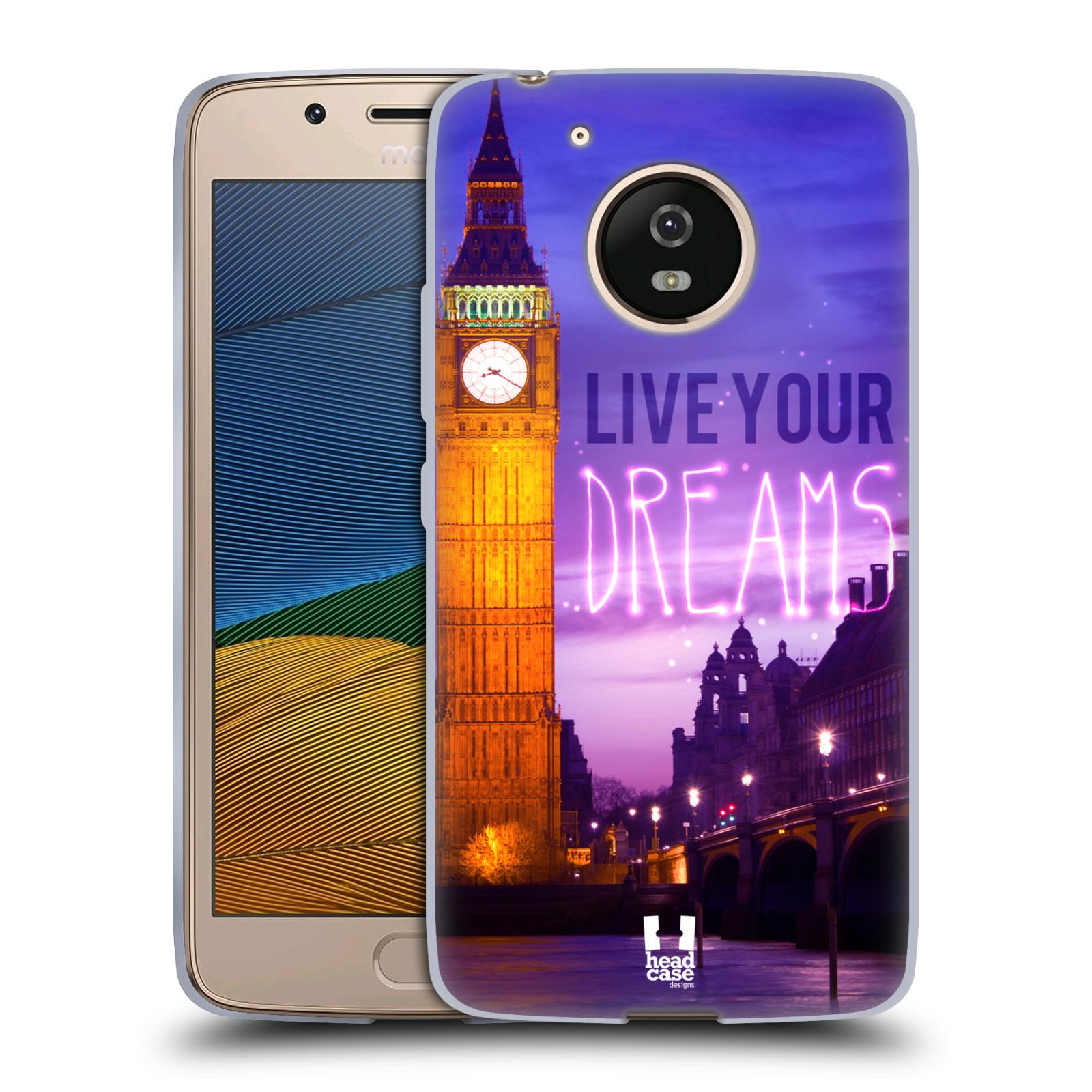 Silikonové pouzdro na mobil Lenovo Moto G5 - Head Case DREAMS (Silikonový kryt či obal na mobilní telefon Lenovo Moto G5)