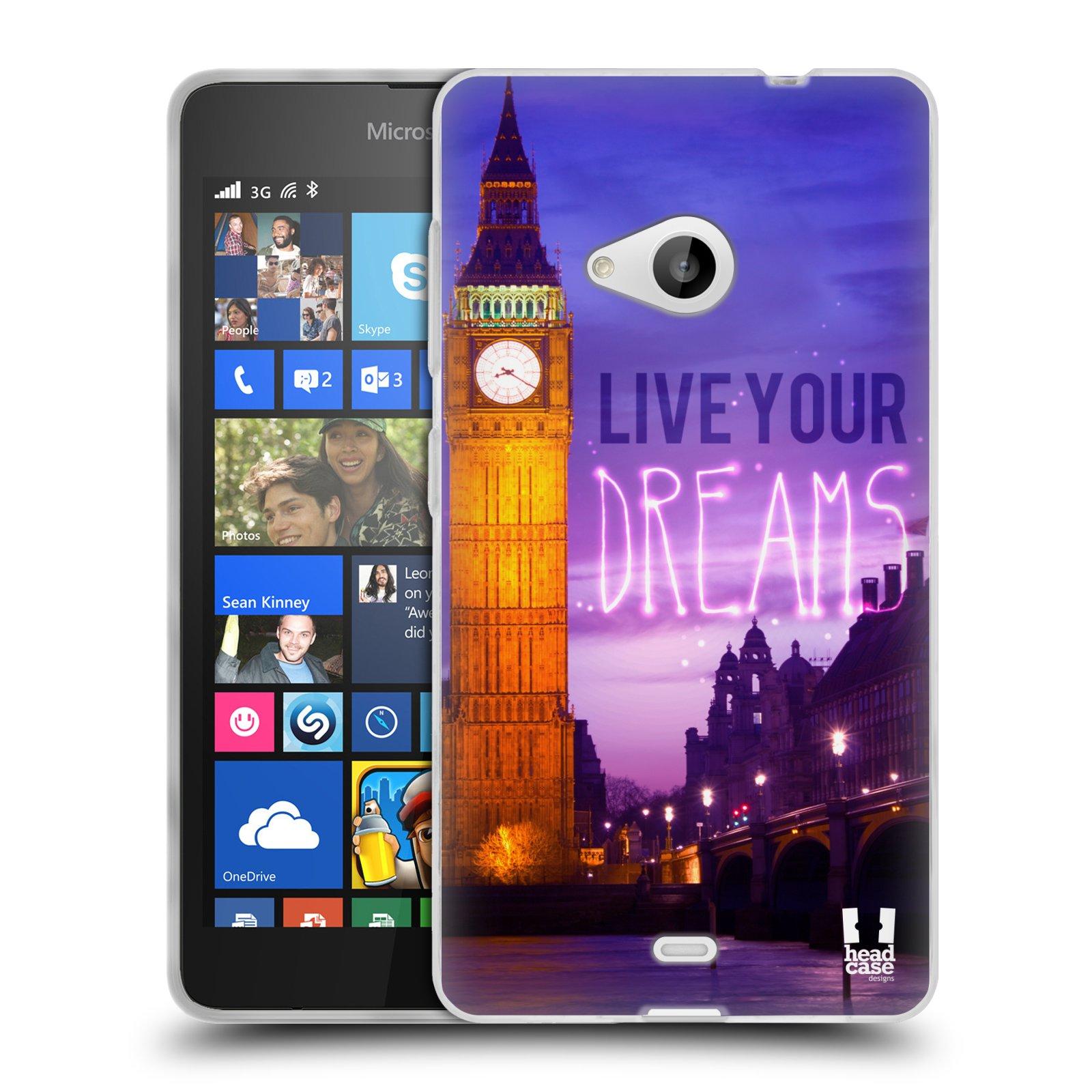 Silikonové pouzdro na mobil Microsoft Lumia 535 HEAD CASE DREAMS (Silikonový kryt či obal na mobilní telefon Microsoft Lumia 535)