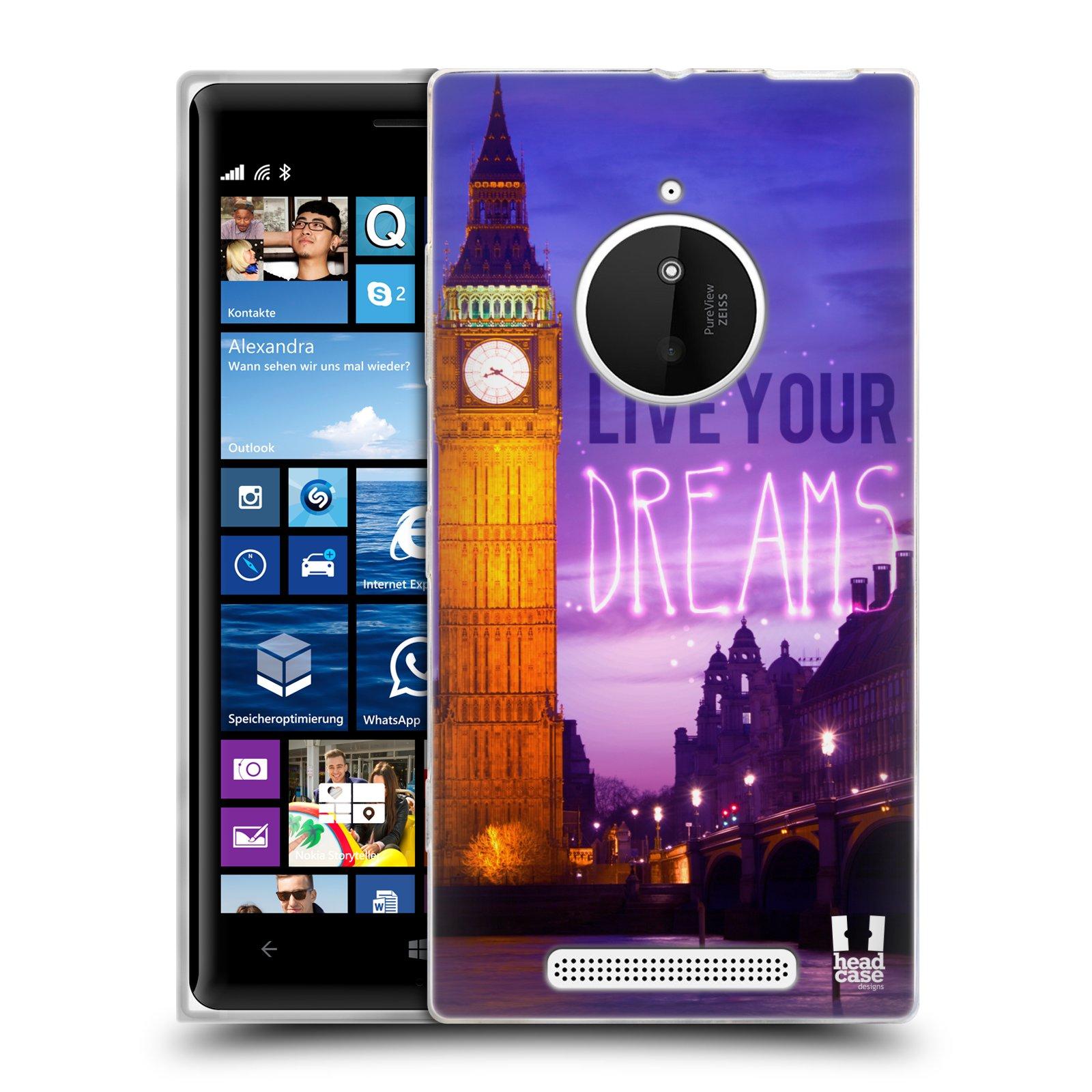 Silikonové pouzdro na mobil Nokia Lumia 830 HEAD CASE DREAMS (Silikonový kryt či obal na mobilní telefon Nokia Lumia 830)