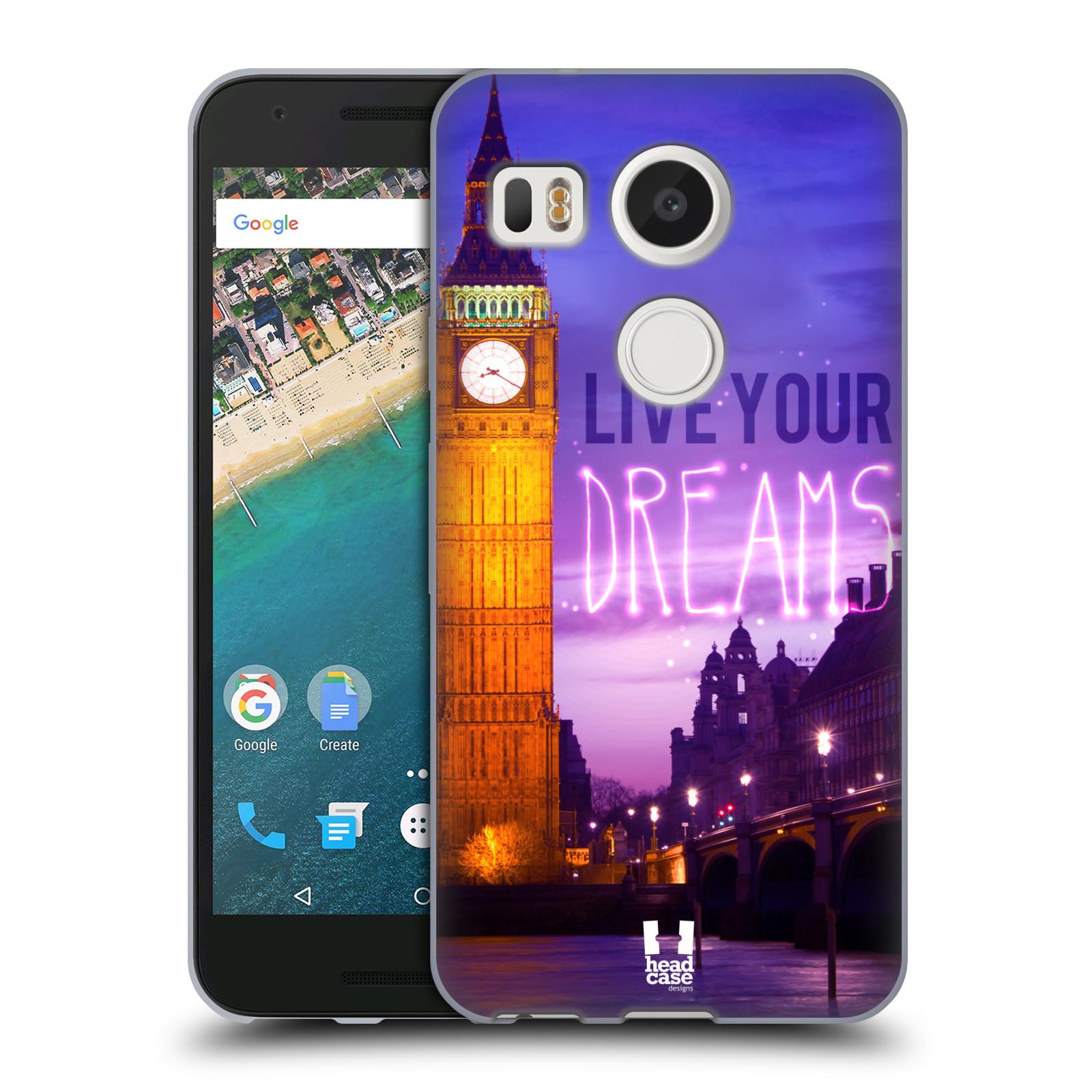 Silikonové pouzdro na mobil LG Nexus 5X - Head Case - DREAMS (Silikonový kryt či obal na mobilní telefon LG Nexus 5X)