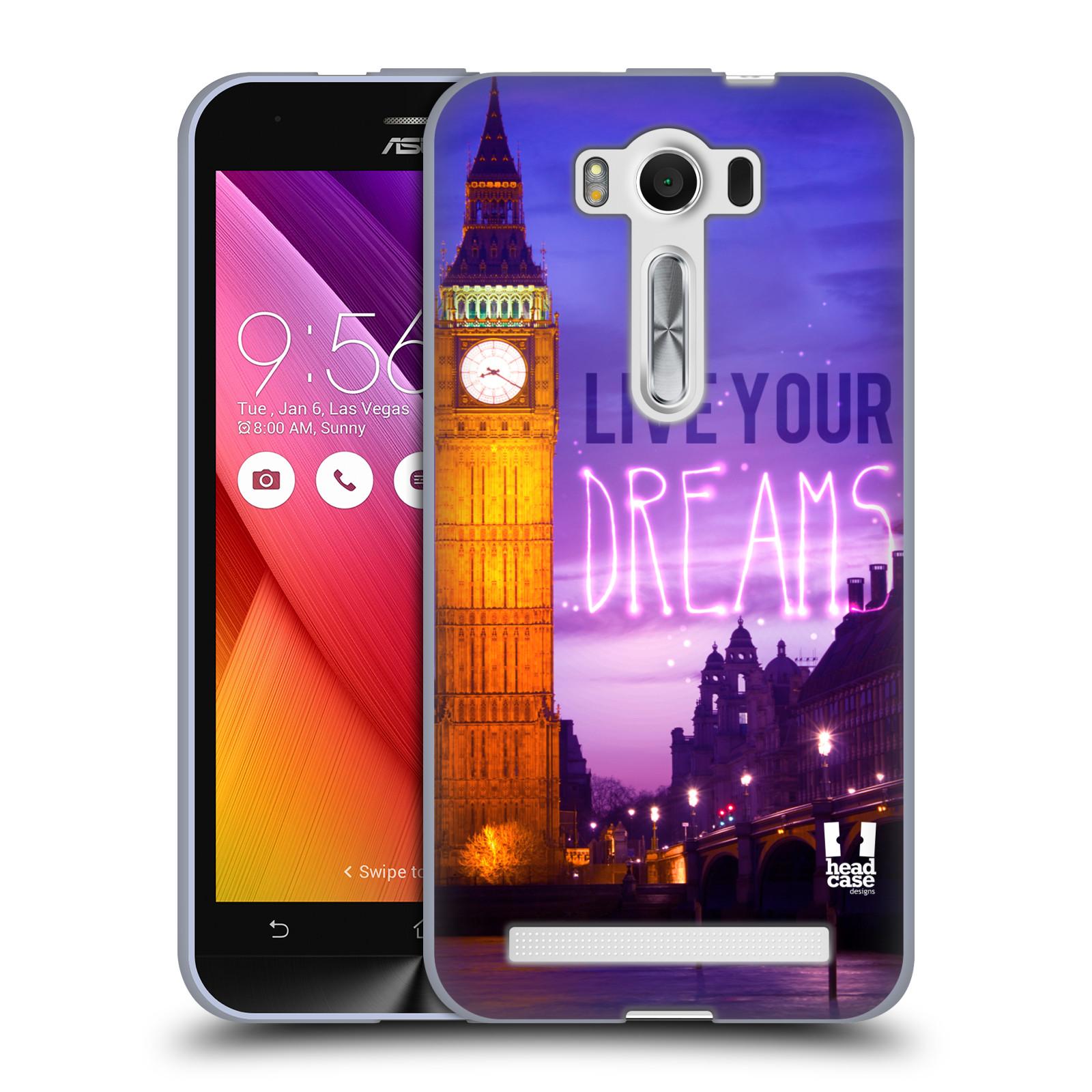 """Silikonové pouzdro na mobil Asus ZenFone 2 Laser ZE500KL HEAD CASE DREAMS (Silikonový kryt či obal na mobilní telefon Asus ZenFone 2 Laser ZE500KL s 5"""" displejem)"""