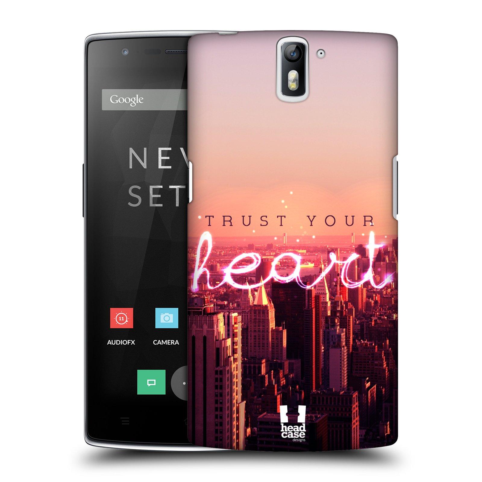 Plastové pouzdro na mobil OnePlus One HEAD CASE TRUST YOUR HEART (Kryt či obal na mobilní telefon OnePlus One)