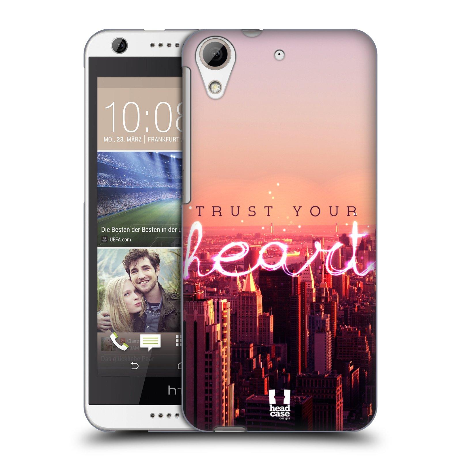 Plastové pouzdro na mobil HTC Desire 626 / 626G HEAD CASE TRUST YOUR HEART (Kryt či obal na mobilní telefon HTC Desire 626G Dual SIM a HTC Desire 626)