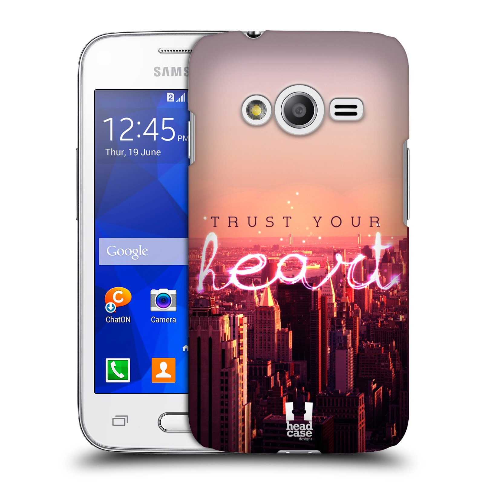 Plastové pouzdro na mobil Samsung Galaxy Trend 2 Lite HEAD CASE TRUST YOUR HEART (Kryt či obal na mobilní telefon Samsung Galaxy Trend 2 Lite SM-G318)