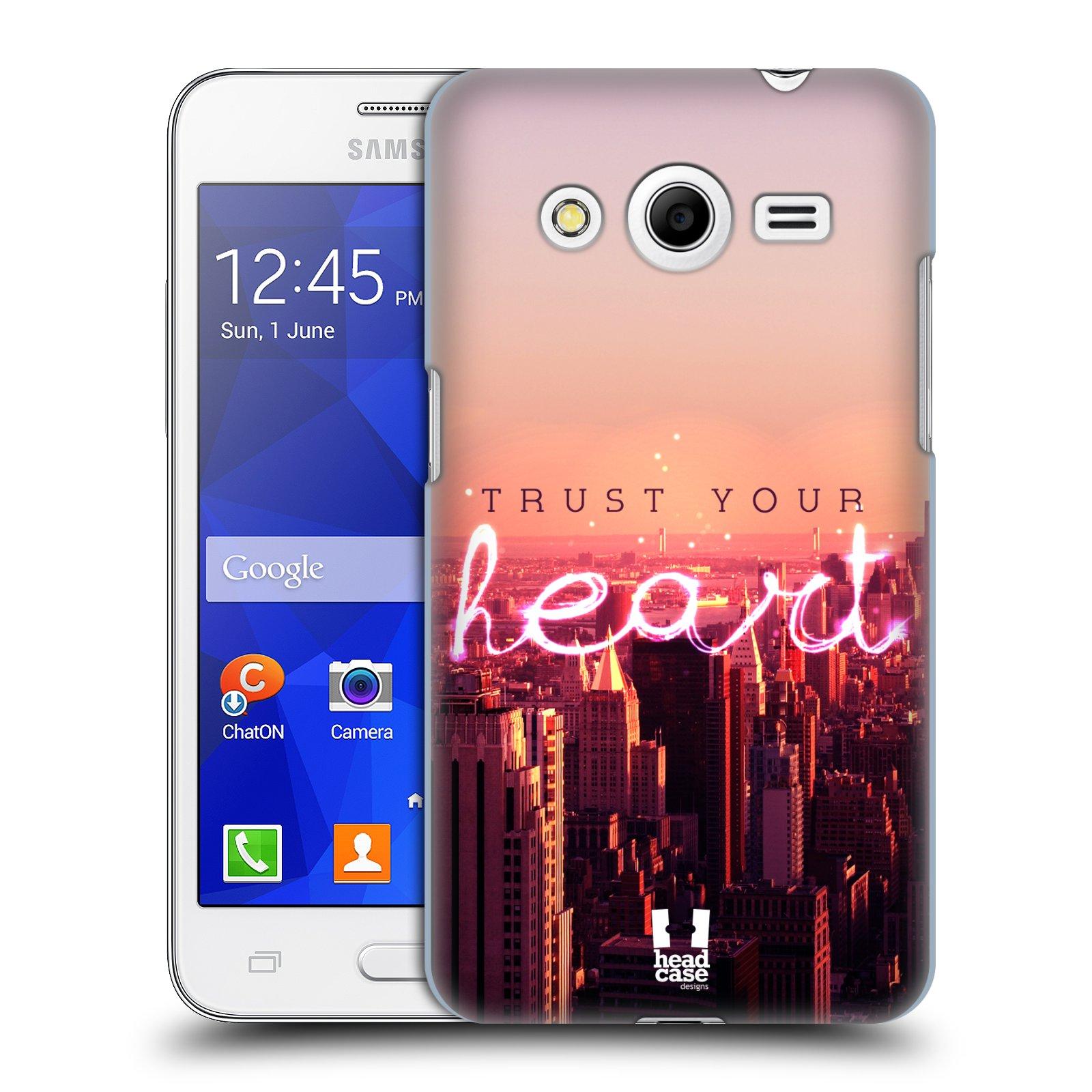 Plastové pouzdro na mobil Samsung Galaxy Core 2 HEAD CASE TRUST YOUR HEART (Kryt či obal na mobilní telefon Samsung Galaxy Core 2 SM-G355H)