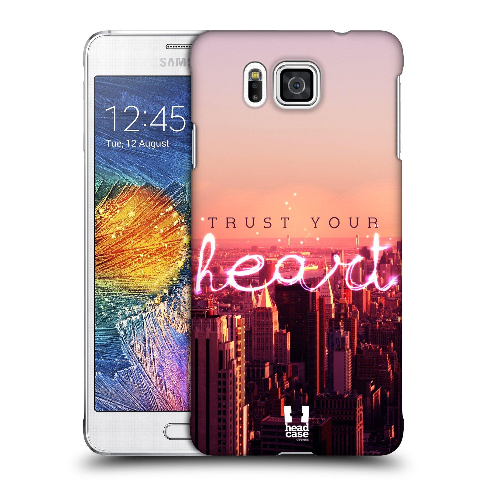 Plastové pouzdro na mobil Samsung Galaxy Alpha HEAD CASE TRUST YOUR HEART (Kryt či obal na mobilní telefon Samsung Galaxy Alpha SM-G850)