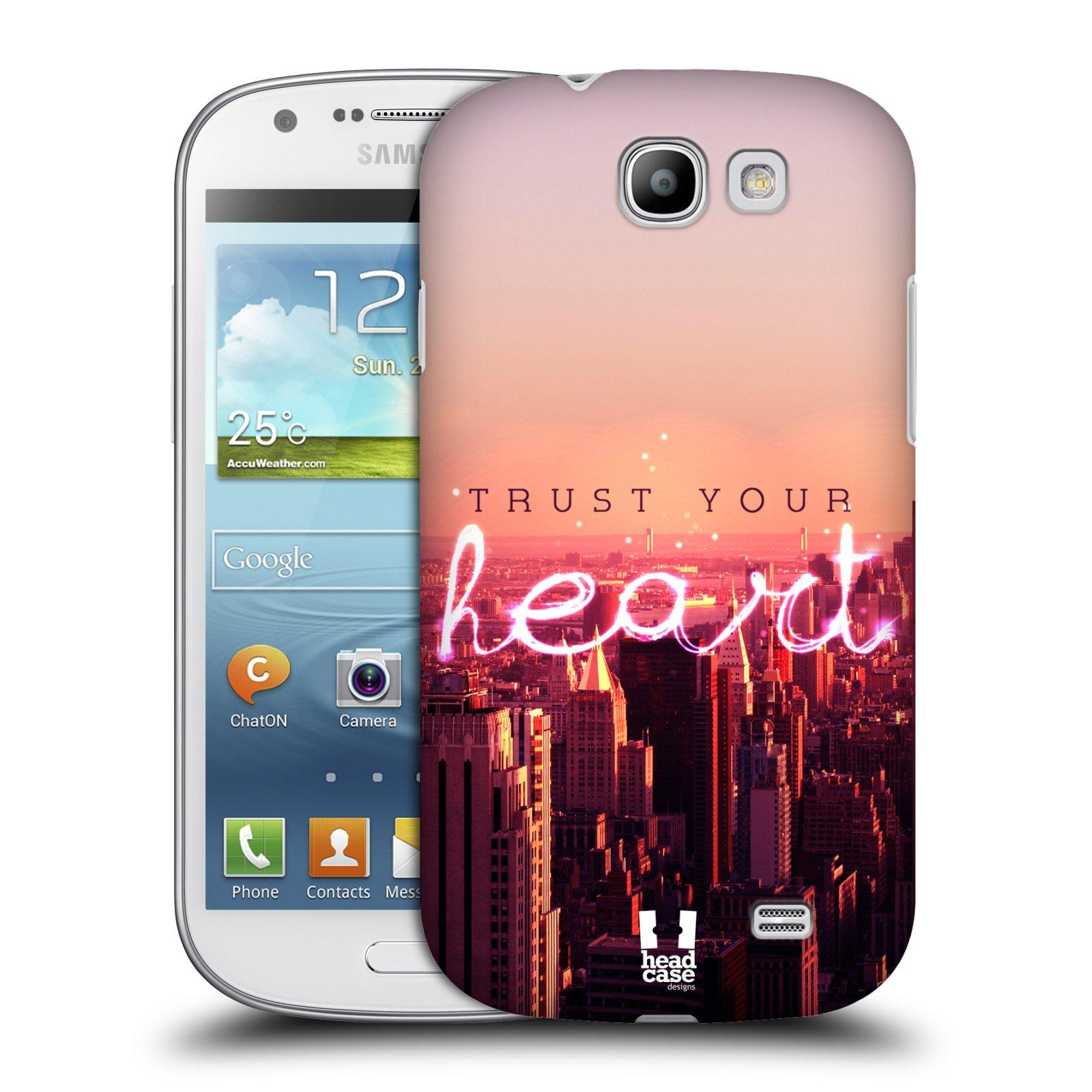 Plastové pouzdro na mobil Samsung Galaxy Express HEAD CASE TRUST YOUR HEART (Kryt či obal na mobilní telefon Samsung Galaxy Express GT-i8730)