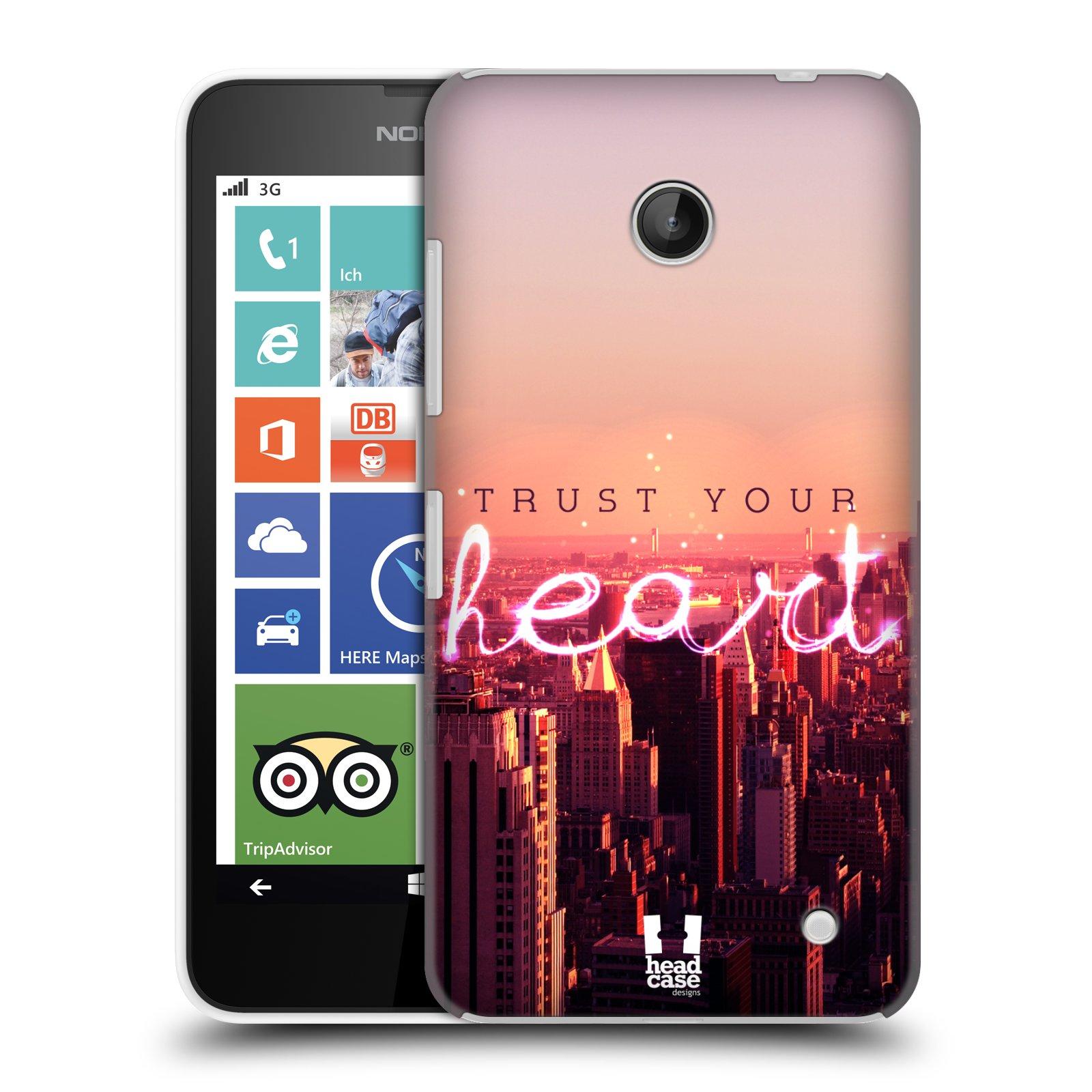 Plastové pouzdro na mobil Nokia Lumia 630 HEAD CASE TRUST YOUR HEART (Kryt či obal na mobilní telefon Nokia Lumia 630 a Nokia Lumia 630 Dual SIM)