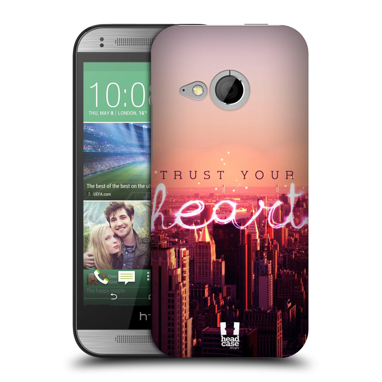 Plastové pouzdro na mobil HTC ONE Mini 2 HEAD CASE TRUST YOUR HEART (Kryt či obal na mobilní telefon HTC ONE Mini 2)