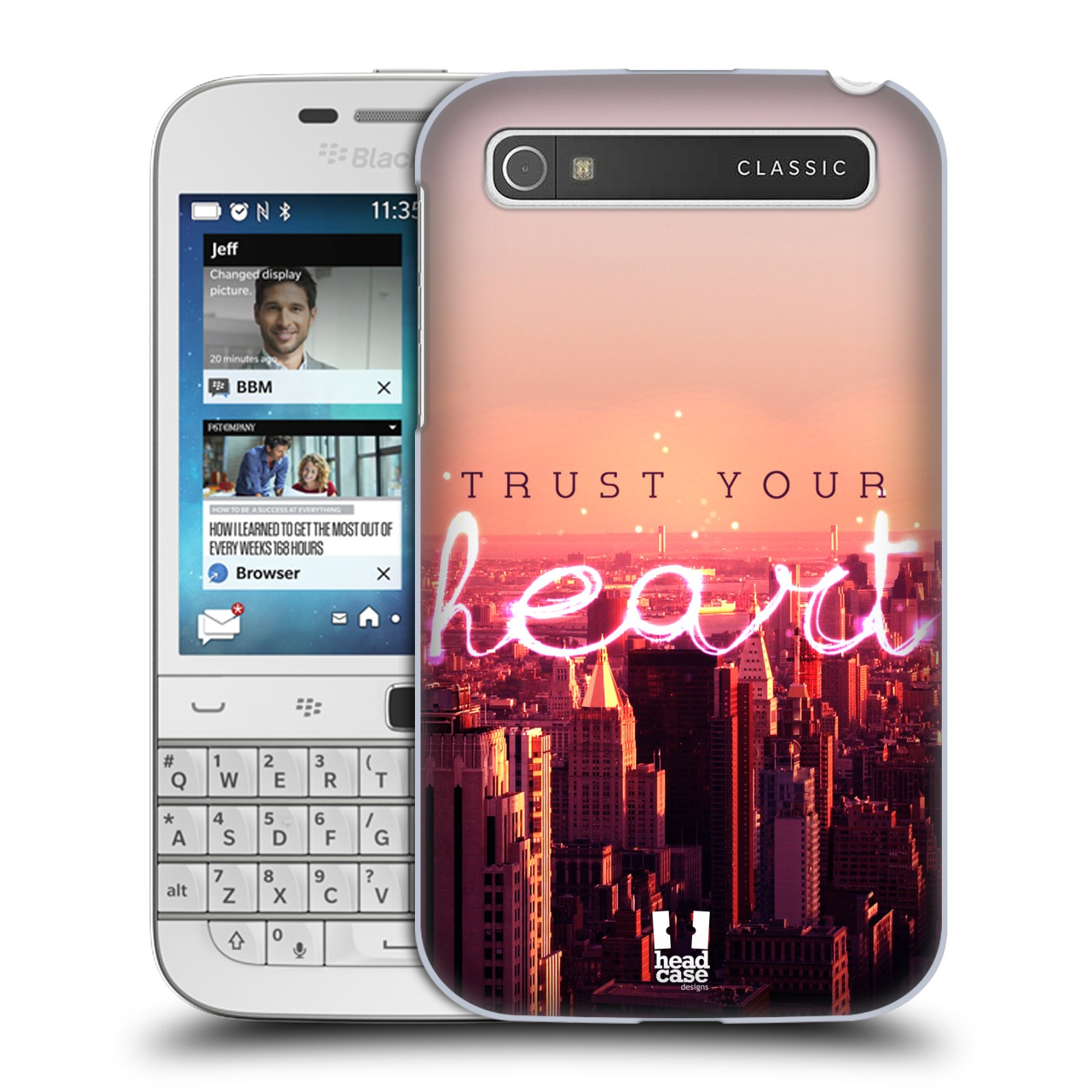 Plastové pouzdro na mobil Blackberry Classic HEAD CASE TRUST YOUR HEART (Kryt či obal na mobilní telefon Blackberry Classic)