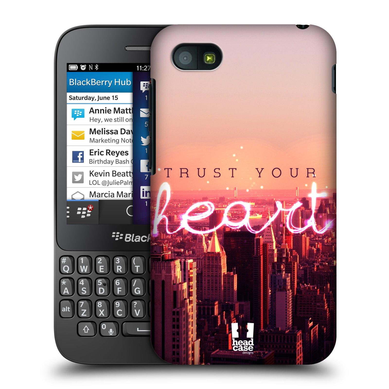 Plastové pouzdro na mobil Blackberry Q5 HEAD CASE TRUST YOUR HEART (Kryt či obal na mobilní telefon Blackberry Q5)